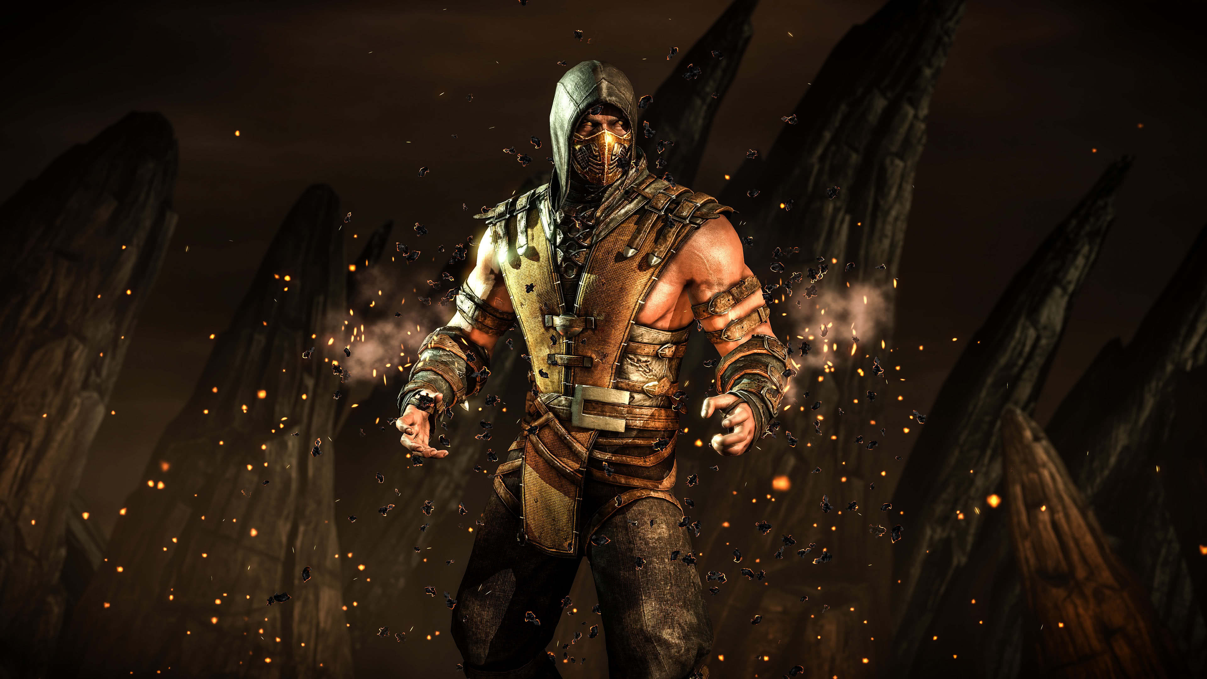 Mortal Kombat X Scorpion Inferno Uhd 4k Wallpaper Pixelz