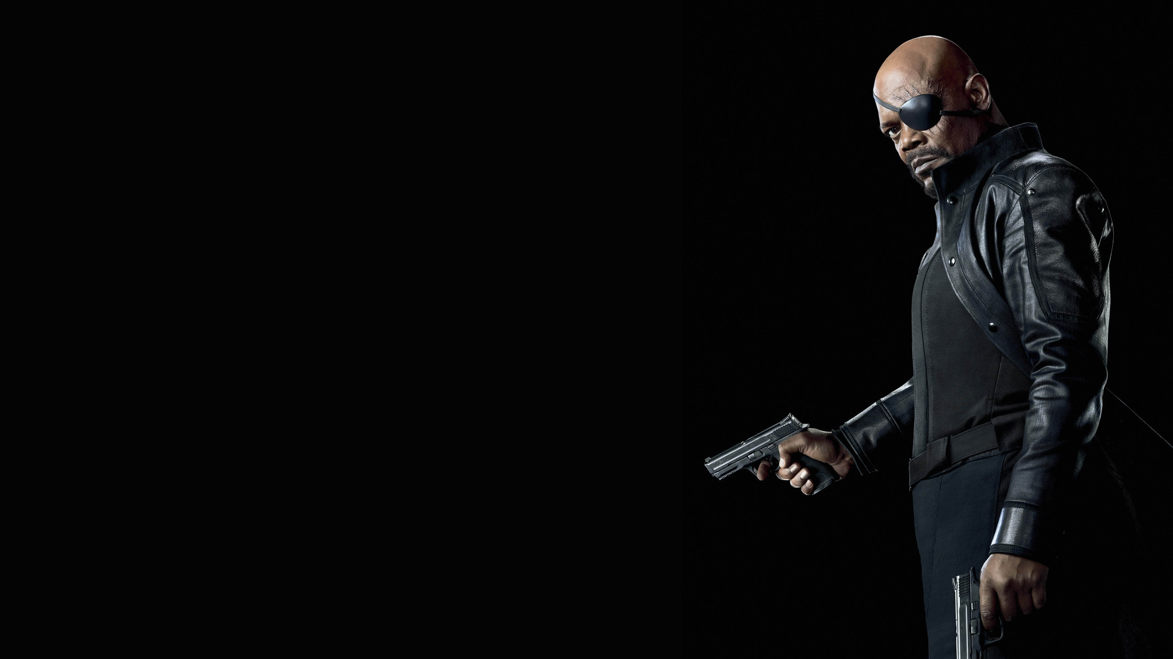 nick fury samuel l jackson uhd 4k wallpaper
