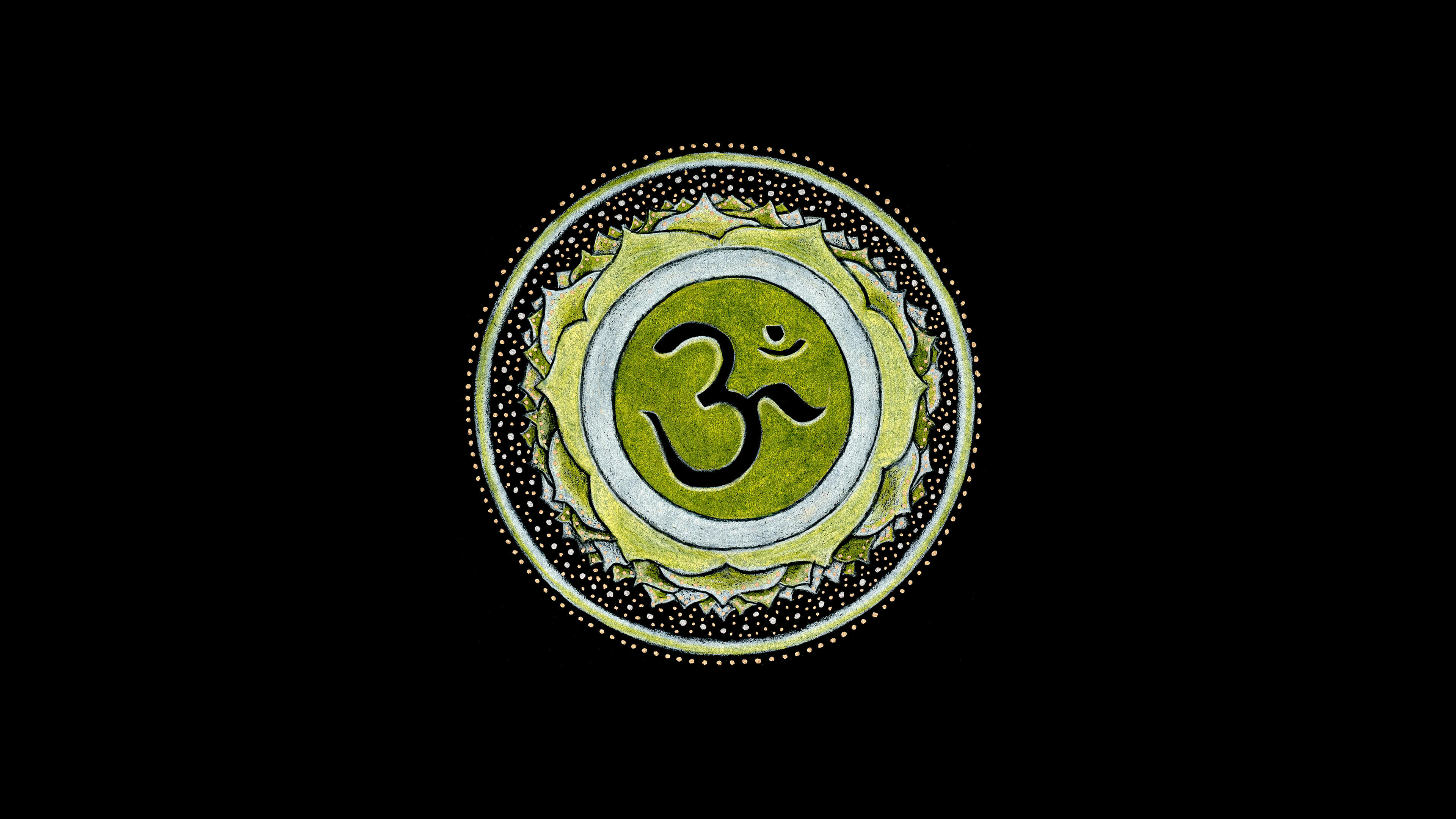 om hindu symbol uhd 4k wallpaper