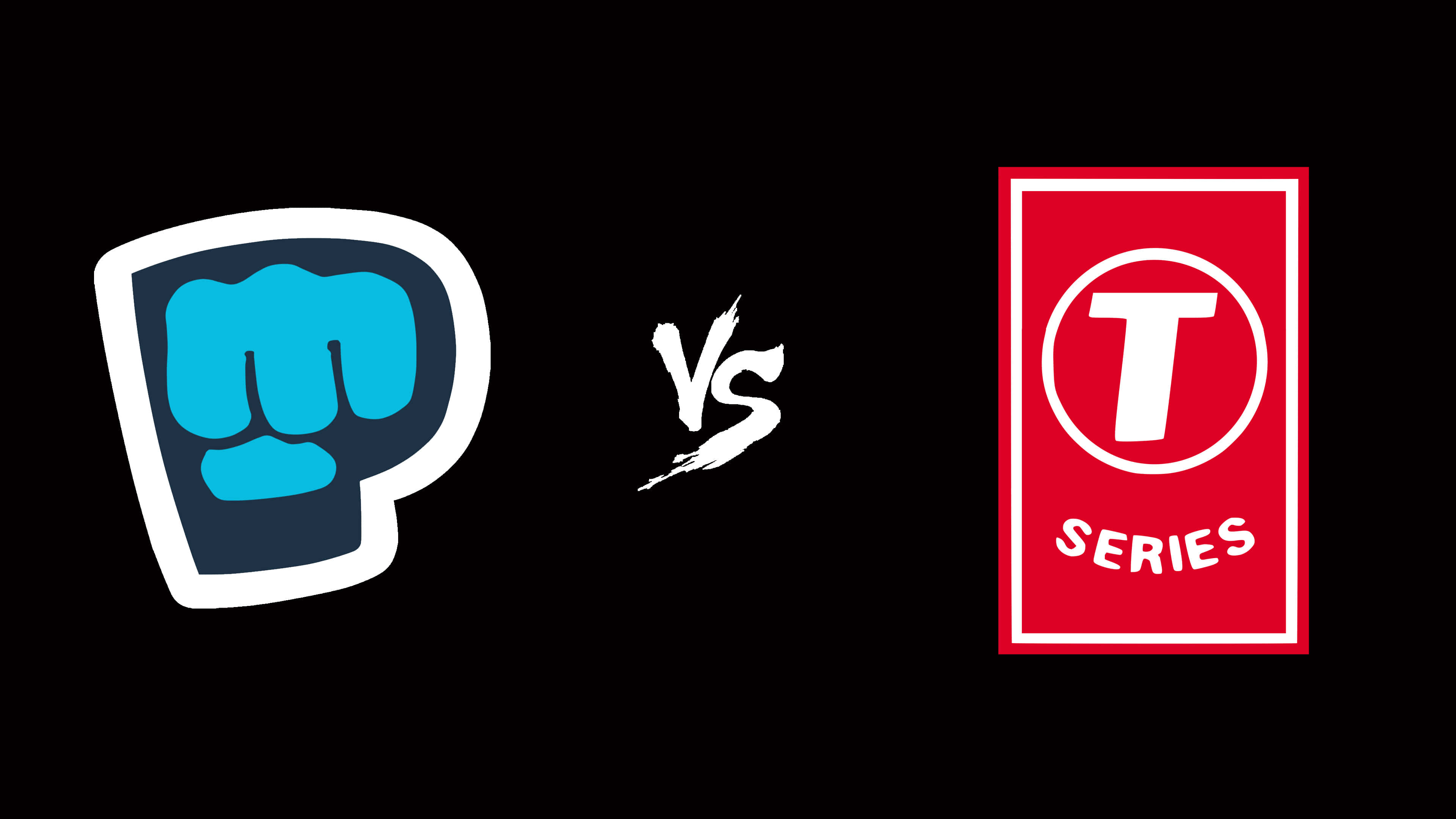 pewdiepie logo vs t-series logo uhd 4k wallpaper