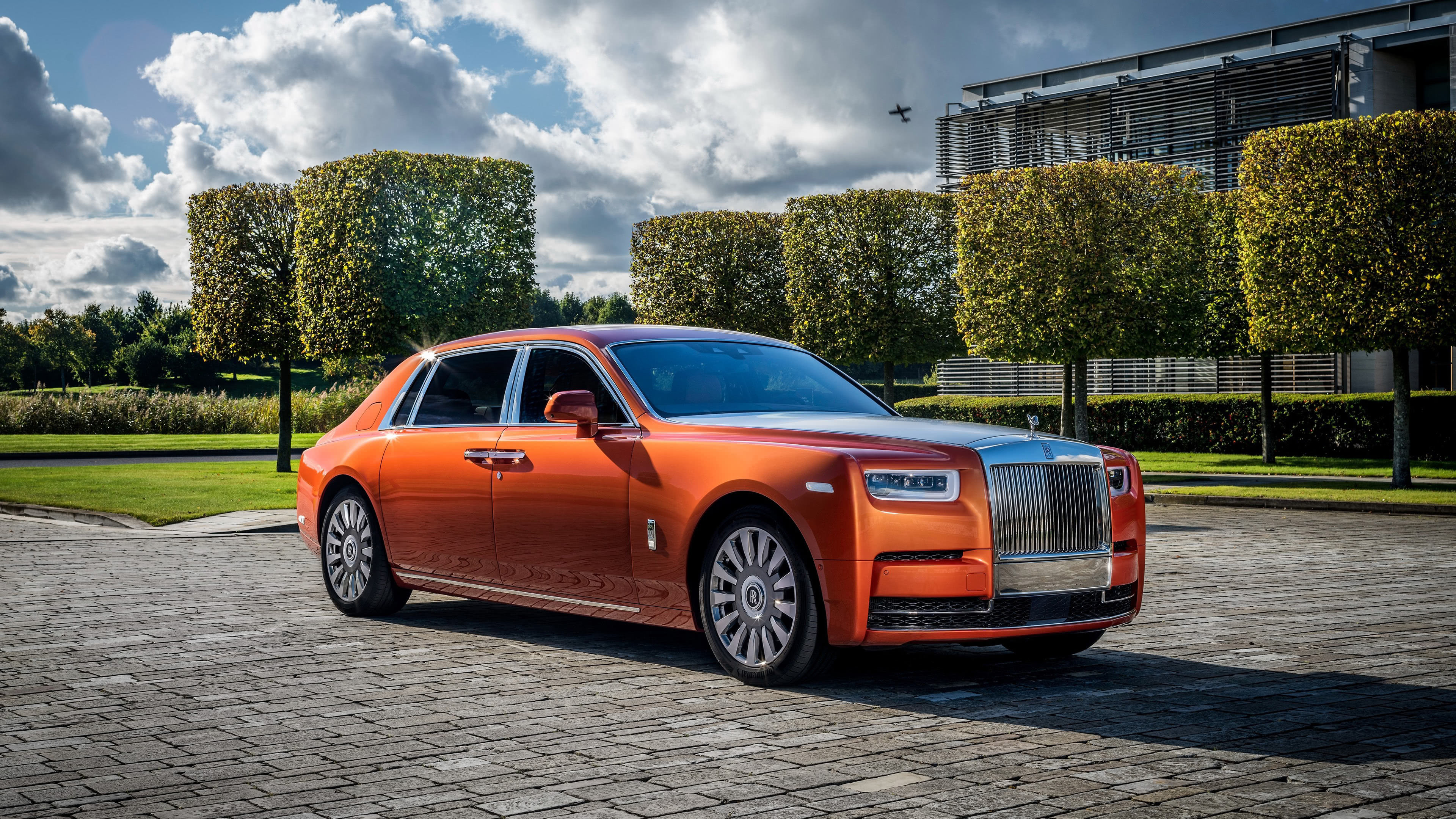 Rolls Royce Phantom EWB Orange UHD 4K Wallpaper