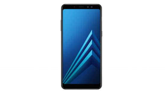 samsung galaxy a8 plus black front uhd 4k wallpaper