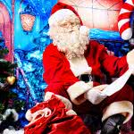 santa claus reading christmas list uhd 4k wallpaper