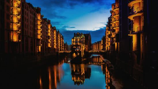 speicherstadt hamburg germany uhd 4k wallpaper