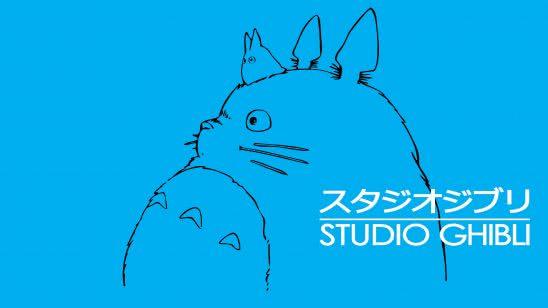 studio ghibli logo uhd 4k wallpaper