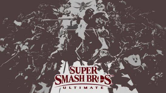 super smash bros ultimate grey uhd 4k wallpaper