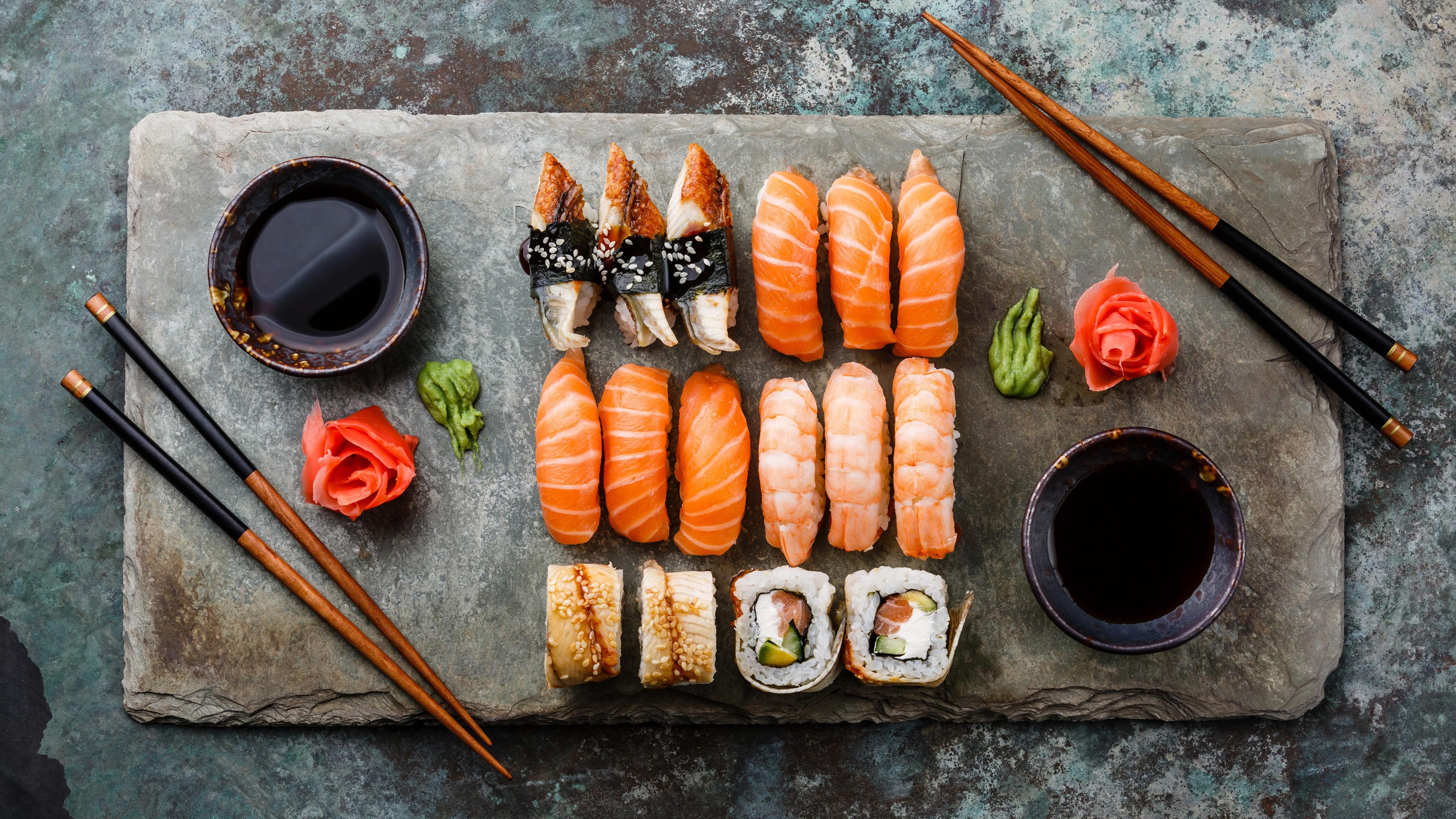 sushi uhd 4k wallpaper