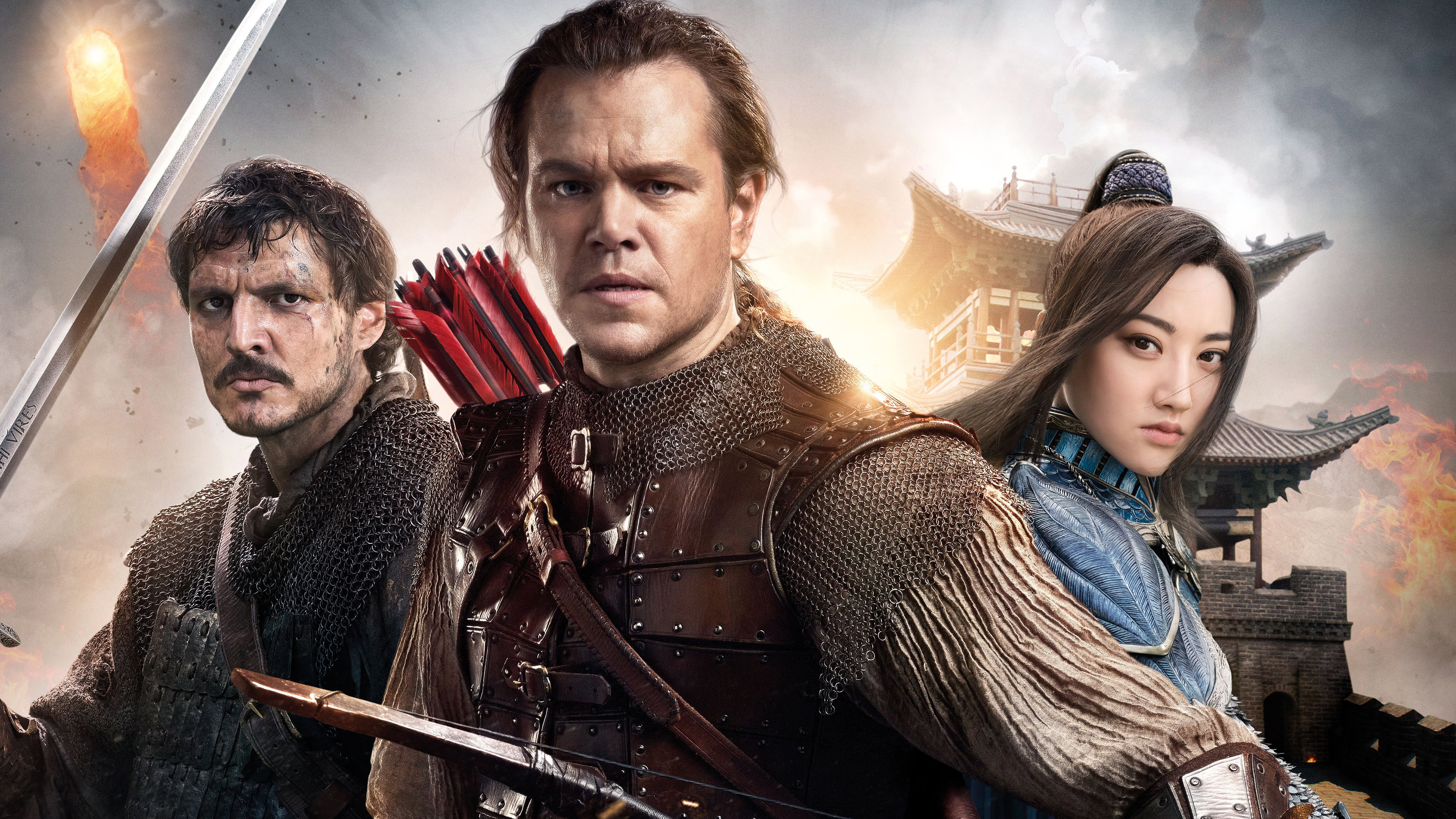 the great wall william lin mae and tovar uhd 4k wallpaper