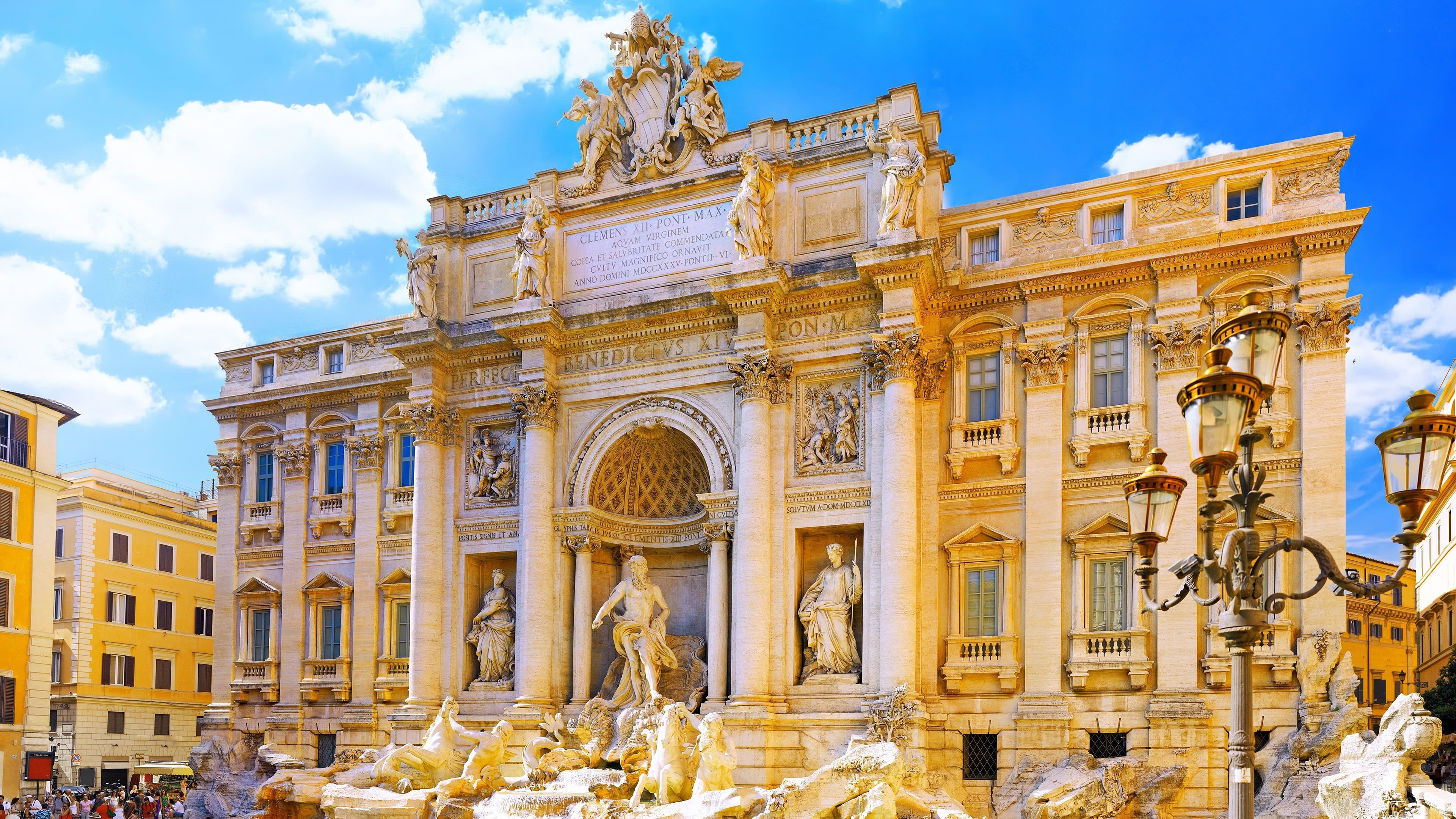 trevi fountain rome italy uhd 4k wallpaper
