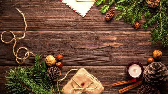 wood table christmas decorations uhd 4k wallpaper