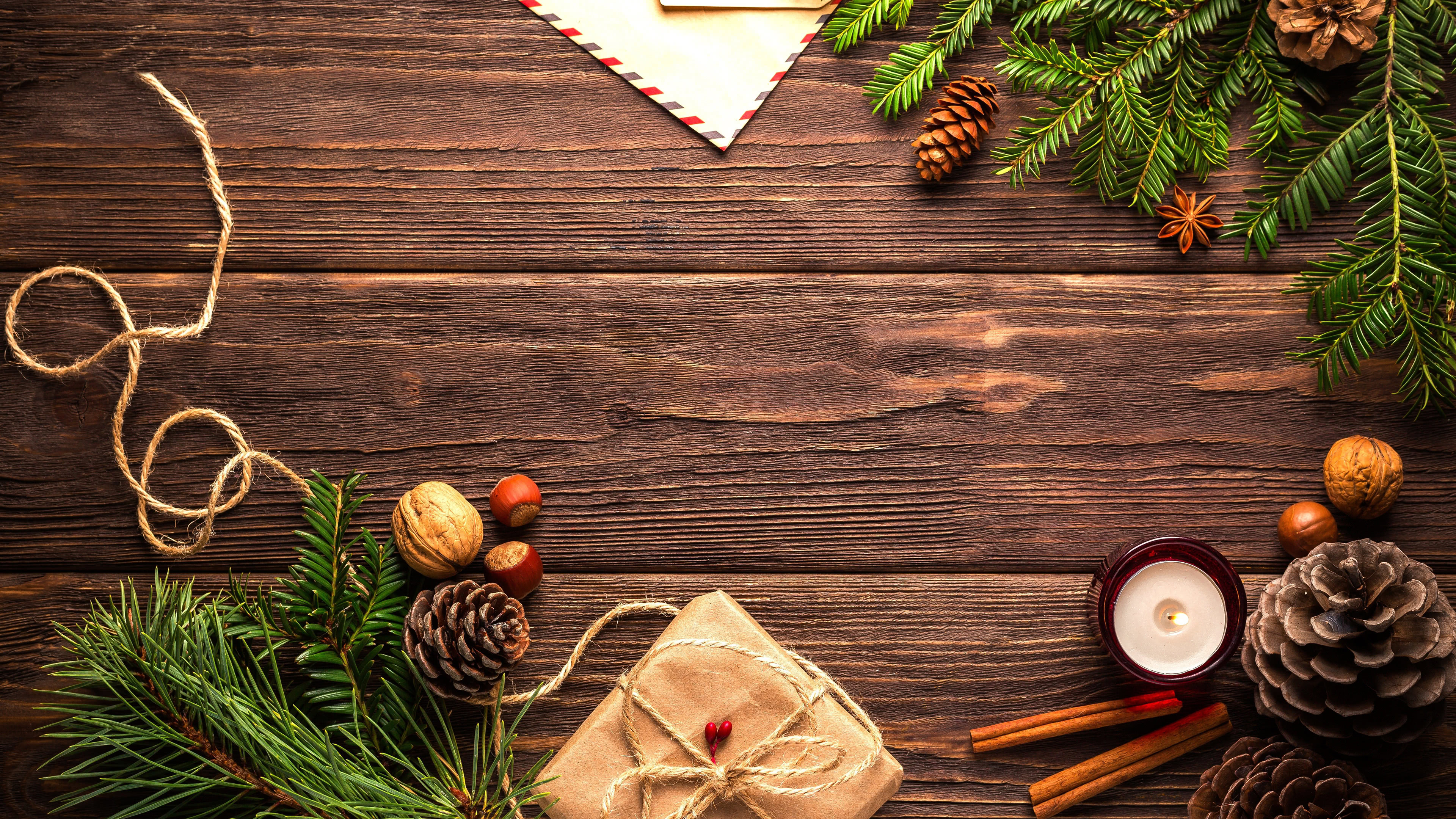 Wood Table Christmas Decorations Uhd 4k Wallpaper Pixelz