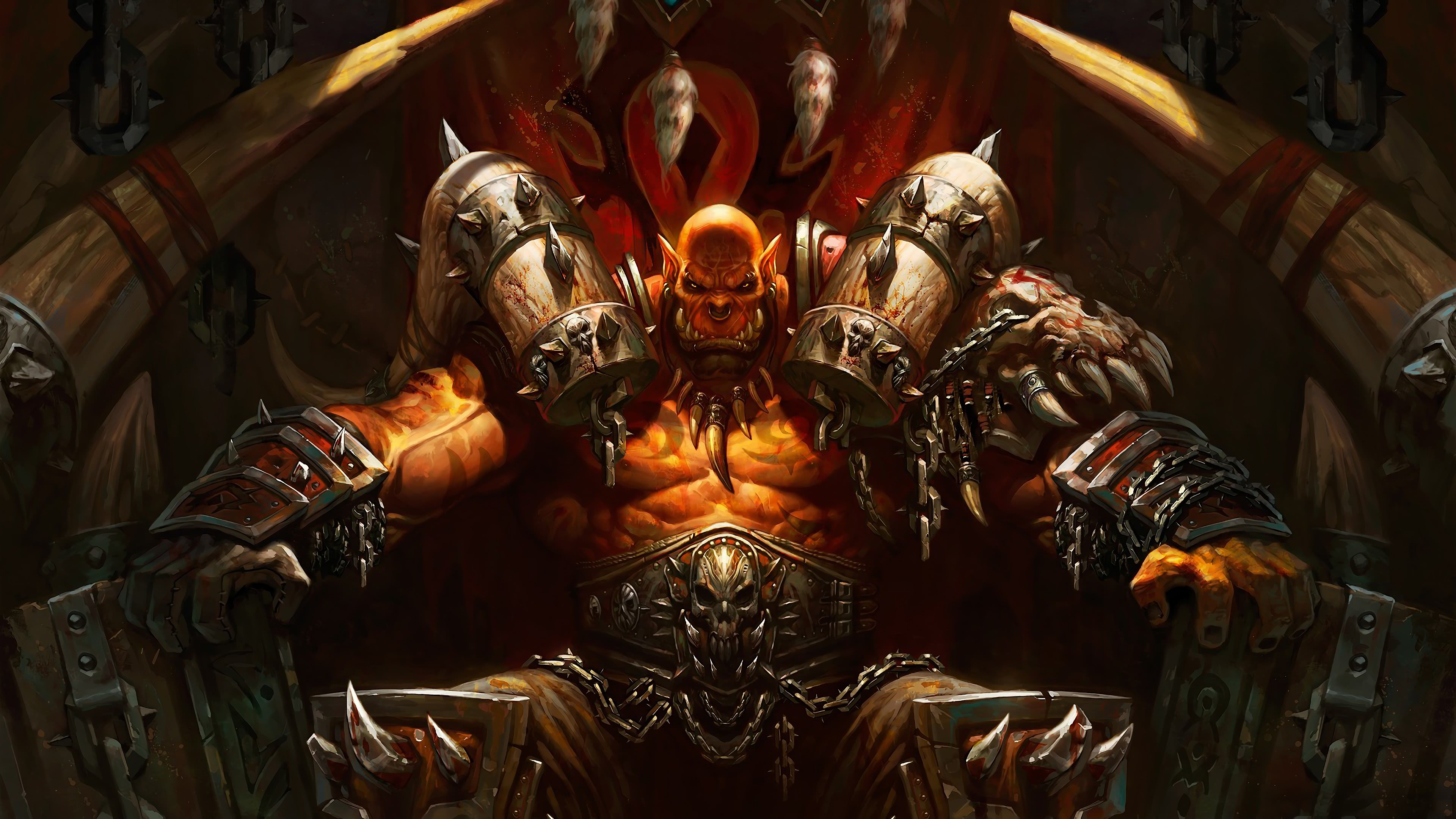 World Of Warcraft Garrosh Hellscream Uhd 4k Wallpaper Pixelz