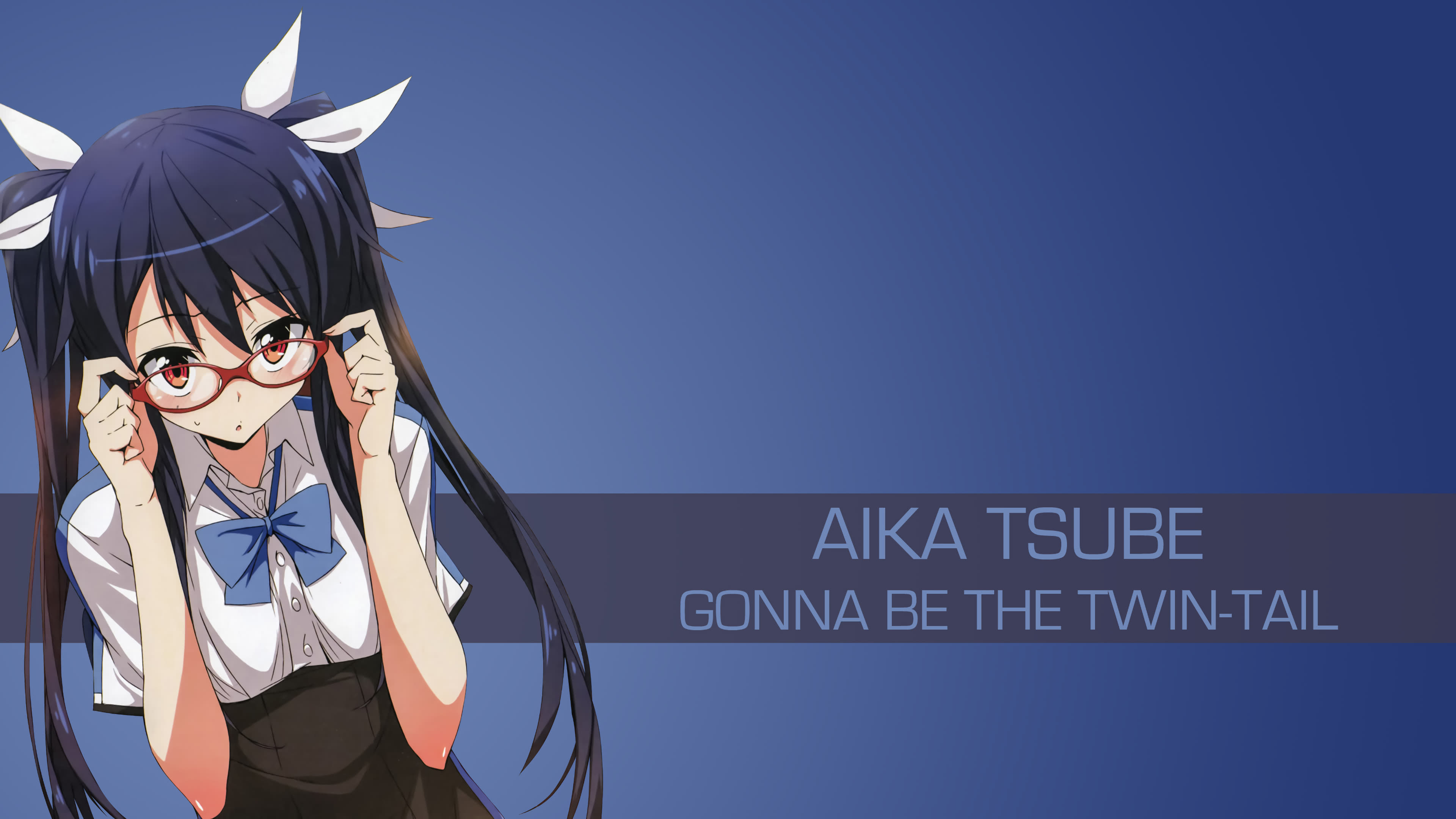 aika tsube gonna be the twin tail uhd 4k wallpaper