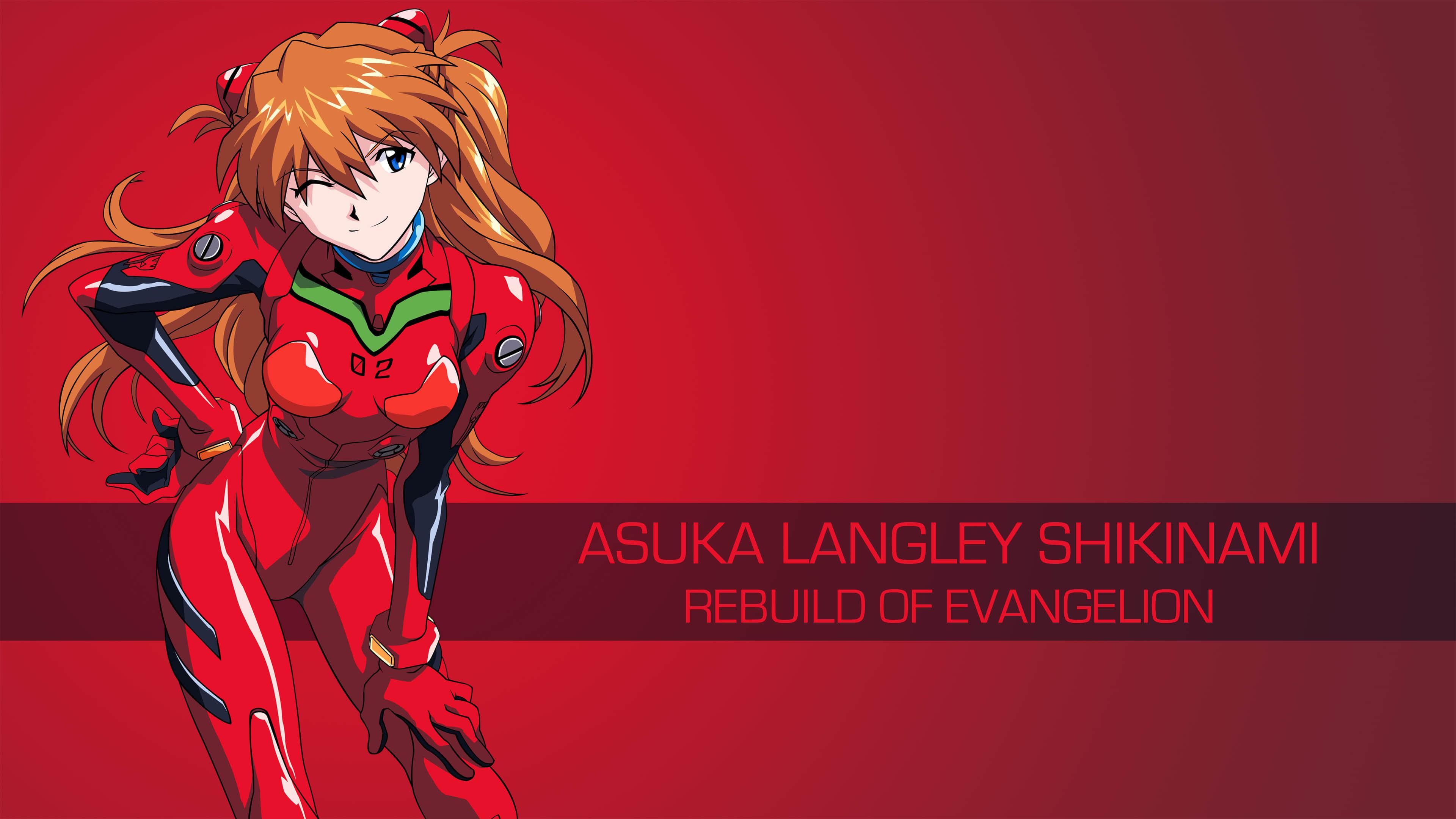Asuka Langley Shikinami Rebuild Of Evangelion Uhd 4k Wallpaper Pixelz Cc