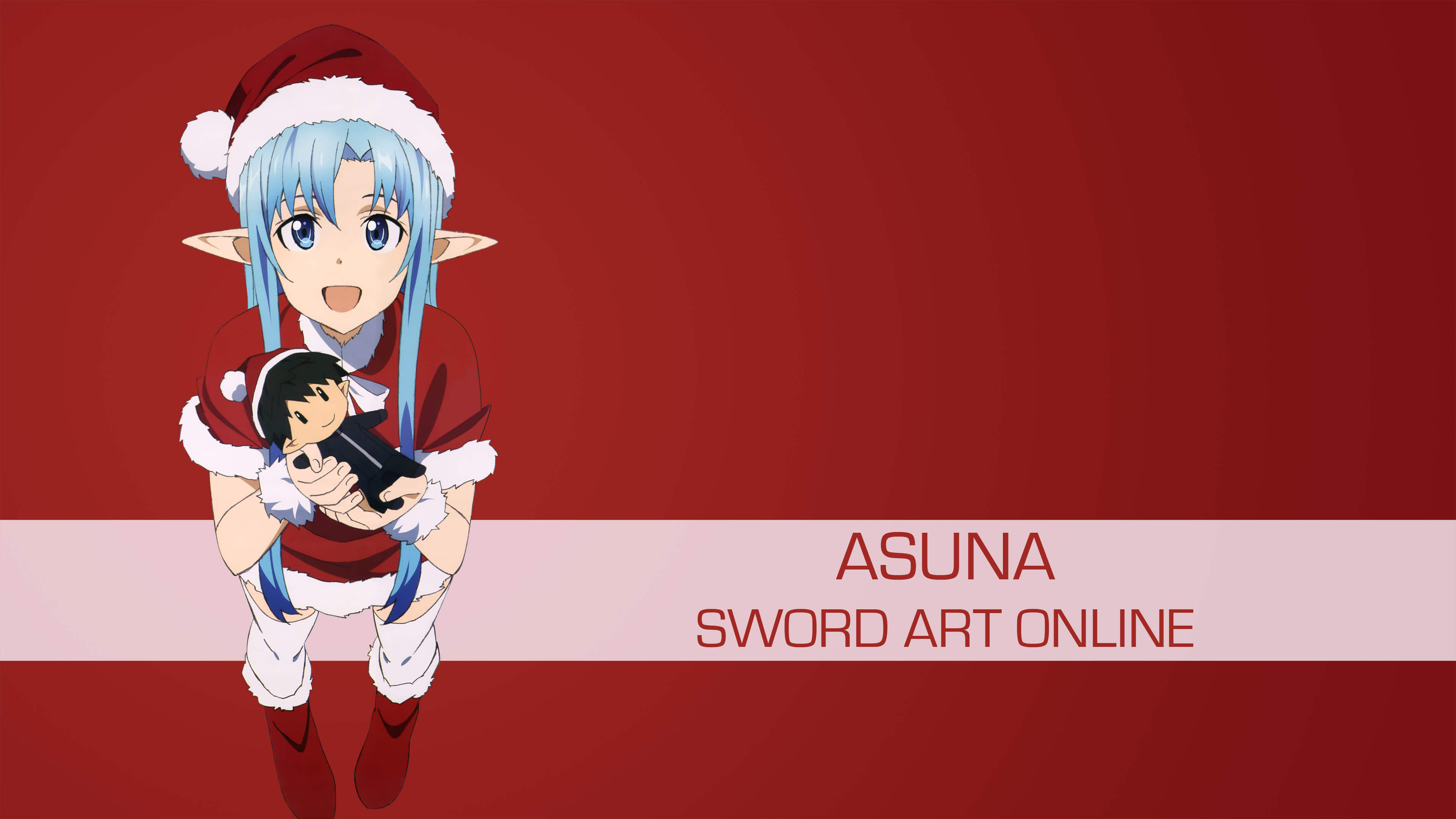 asuna christmas sword art online uhd 4k wallpaper