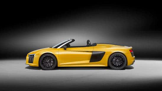 audi r8 convertible side uhd 4k wallpaper