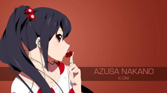 azusa nakano k-on uhd 4k wallpaper