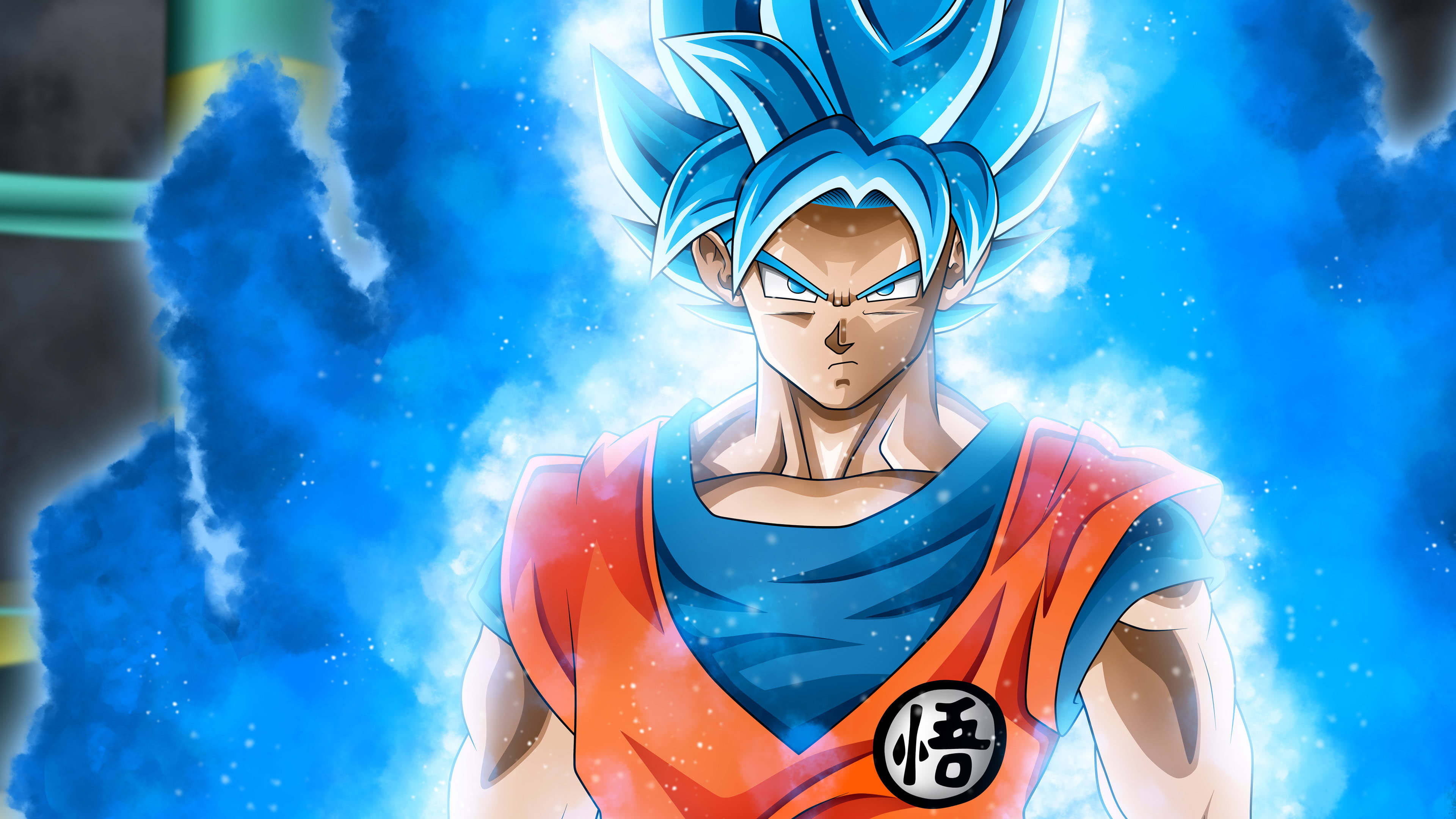 Dragon Ball Super Blue Goku Portrait Uhd 4k Wallpaper Pixelz