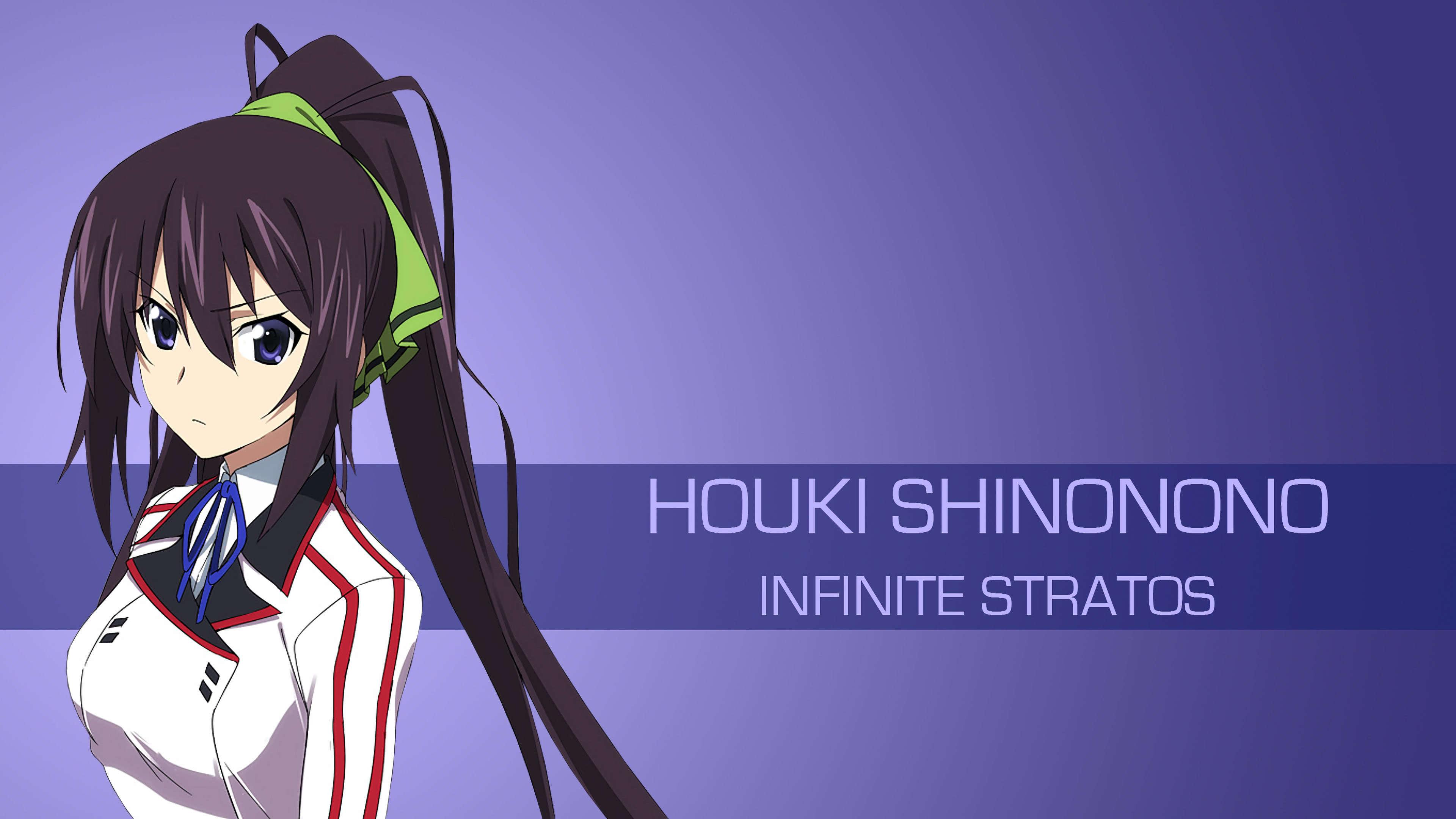houki shinonono infinite stratos uhd 4k wallpaper