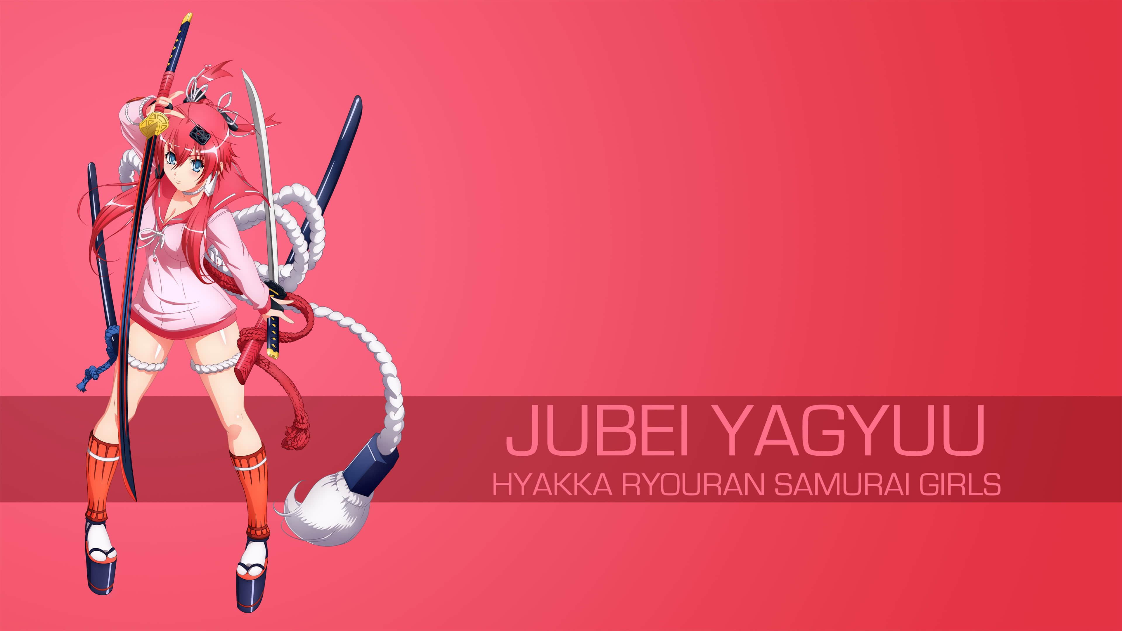 jubei yagyuu hyakka ryouran samurai girls uhd 4k wallpaper