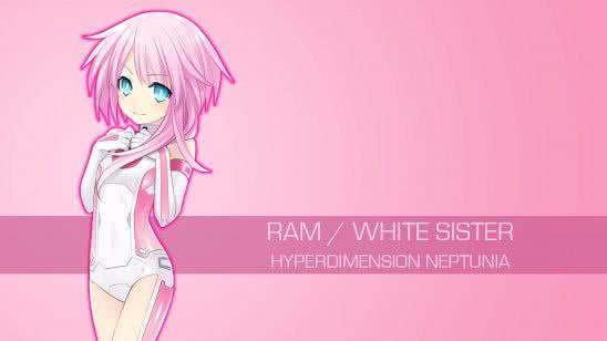ram white sister hyperdimension neptunia uhd 4k wallpaper