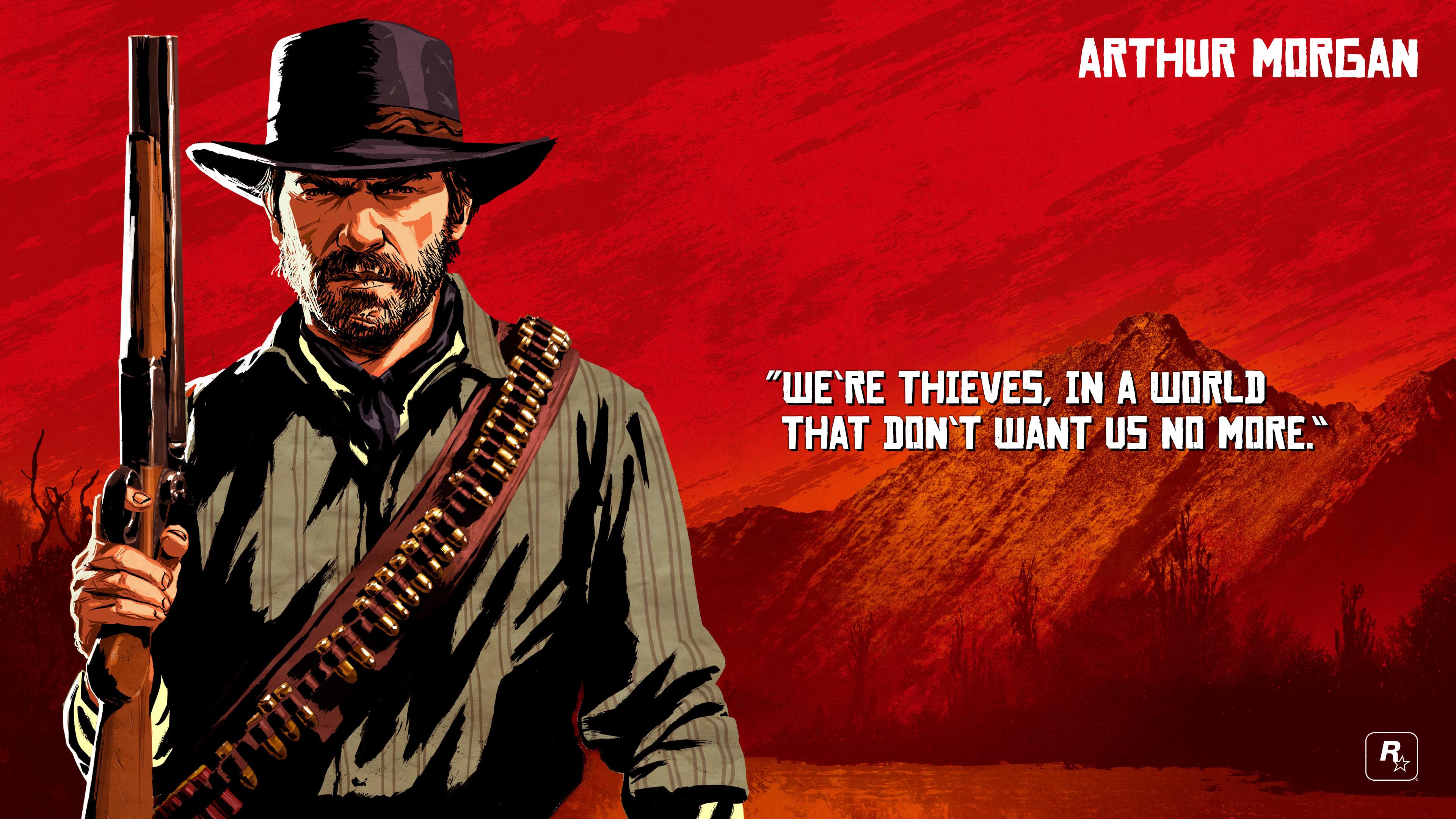 Red Dead Redemption 2 Arthur Morgan Quote 4k Wallpaper Pixelz
