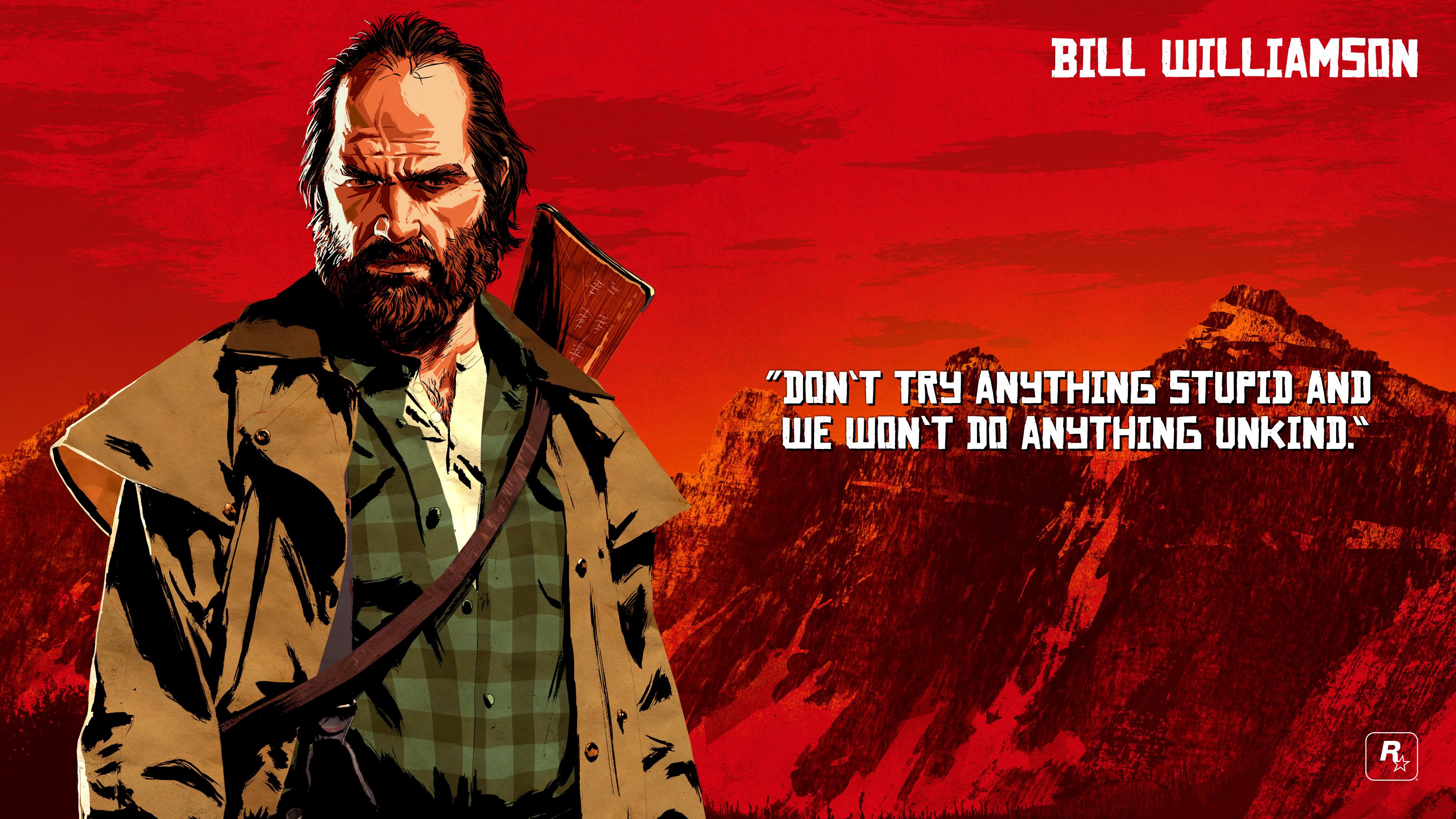red dead redemption 2 bill williamson uhd 4k wallpaper