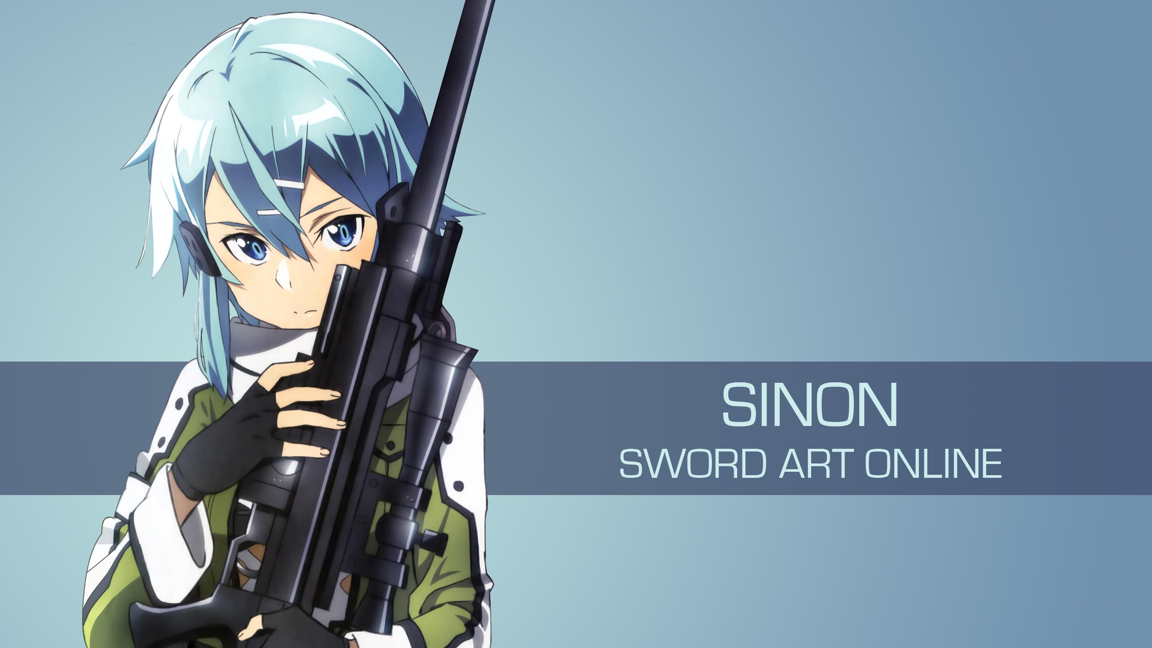 Sinon Sword Art Online Uhd 4k Wallpaper Pixelz