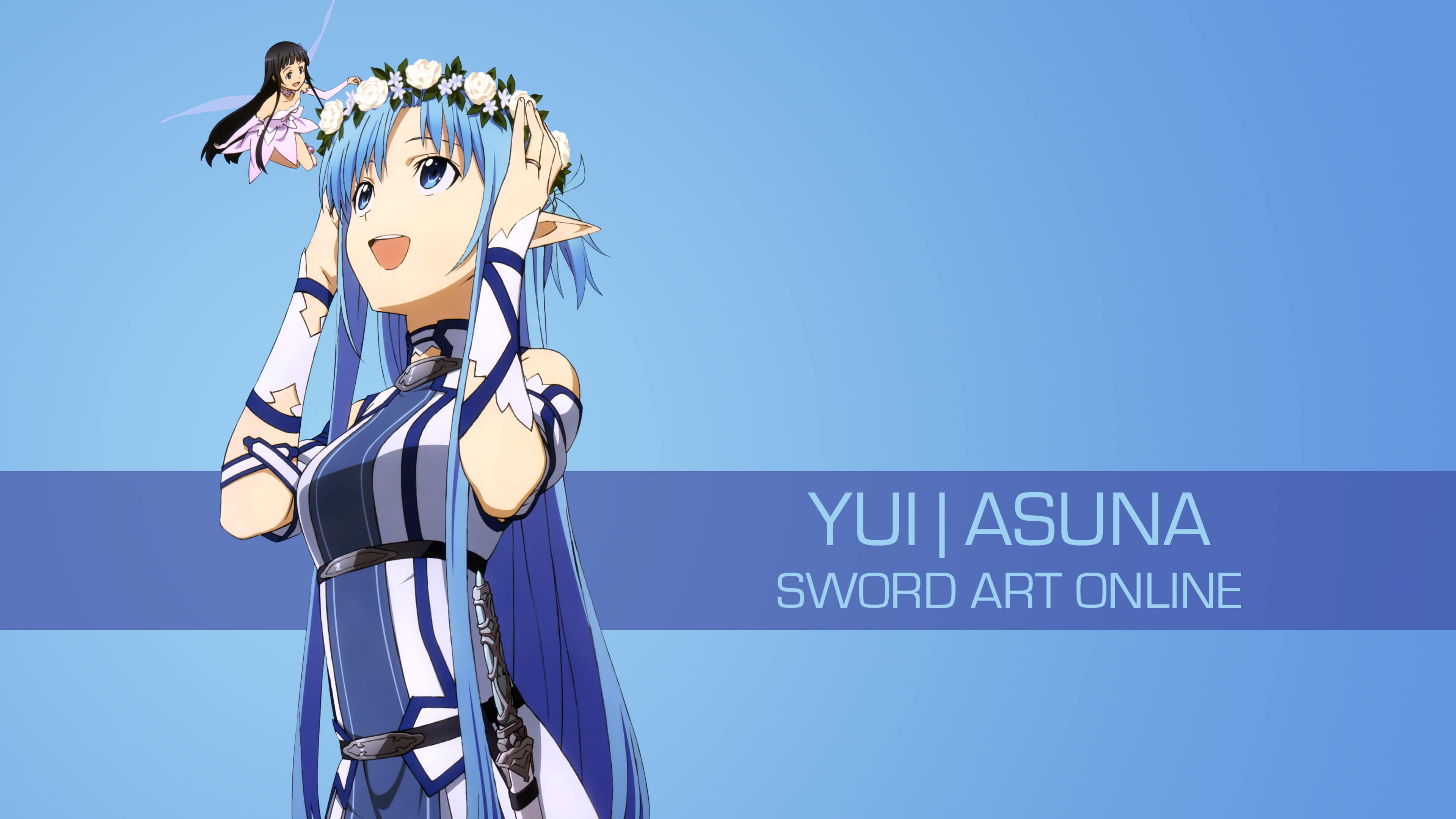 yui asuna sword art online uhd 4k wallpaper