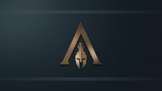assassins creed odyssey logo uhd 4k wallpaper