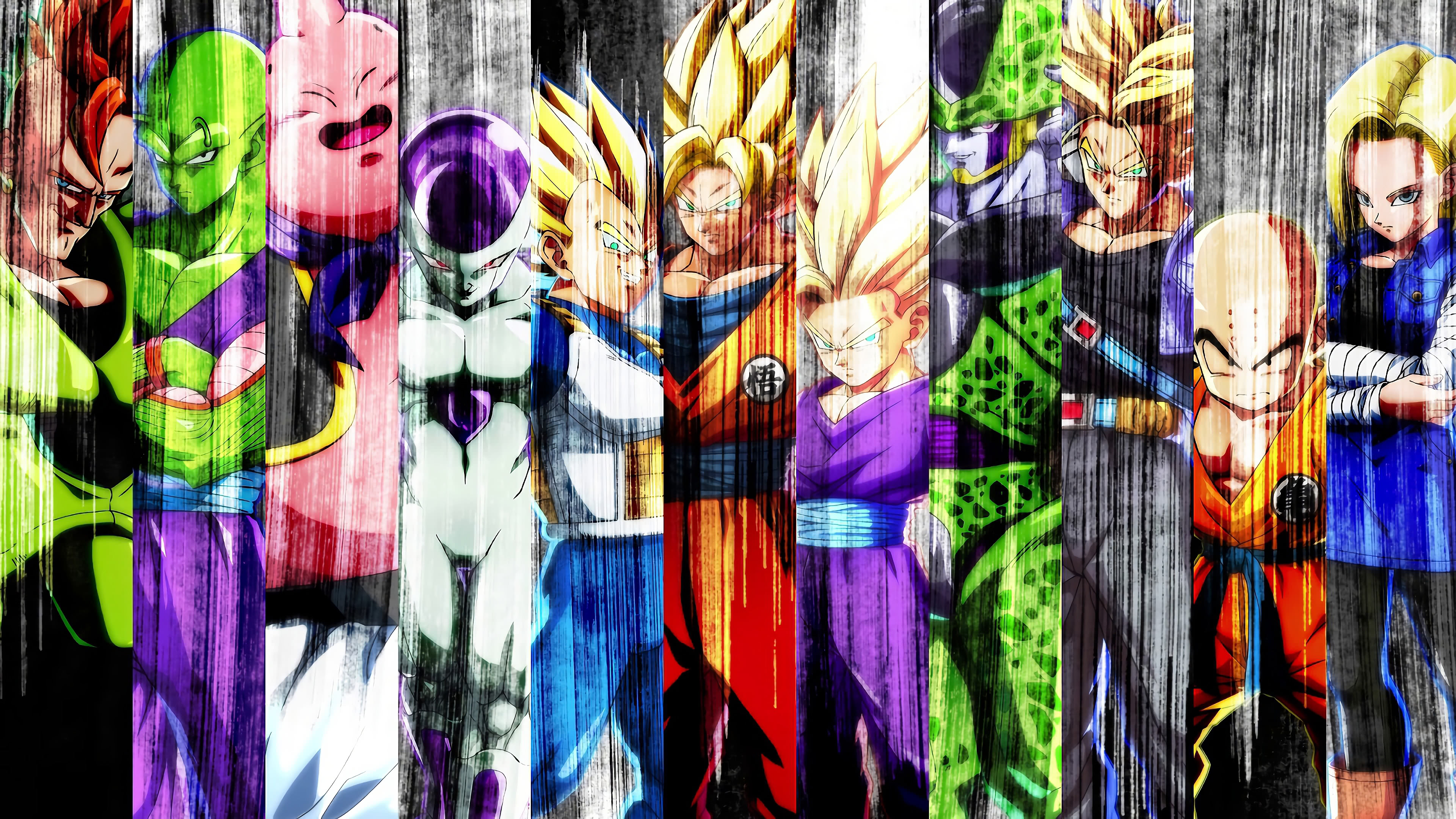 dragon ball fighterz characters uhd 4k wallpaper