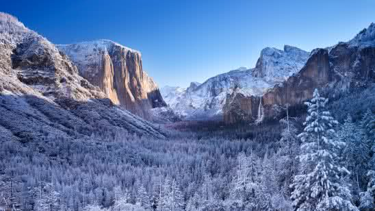el capitan rock formation winter yosemite national park california united states 4k wallpaper