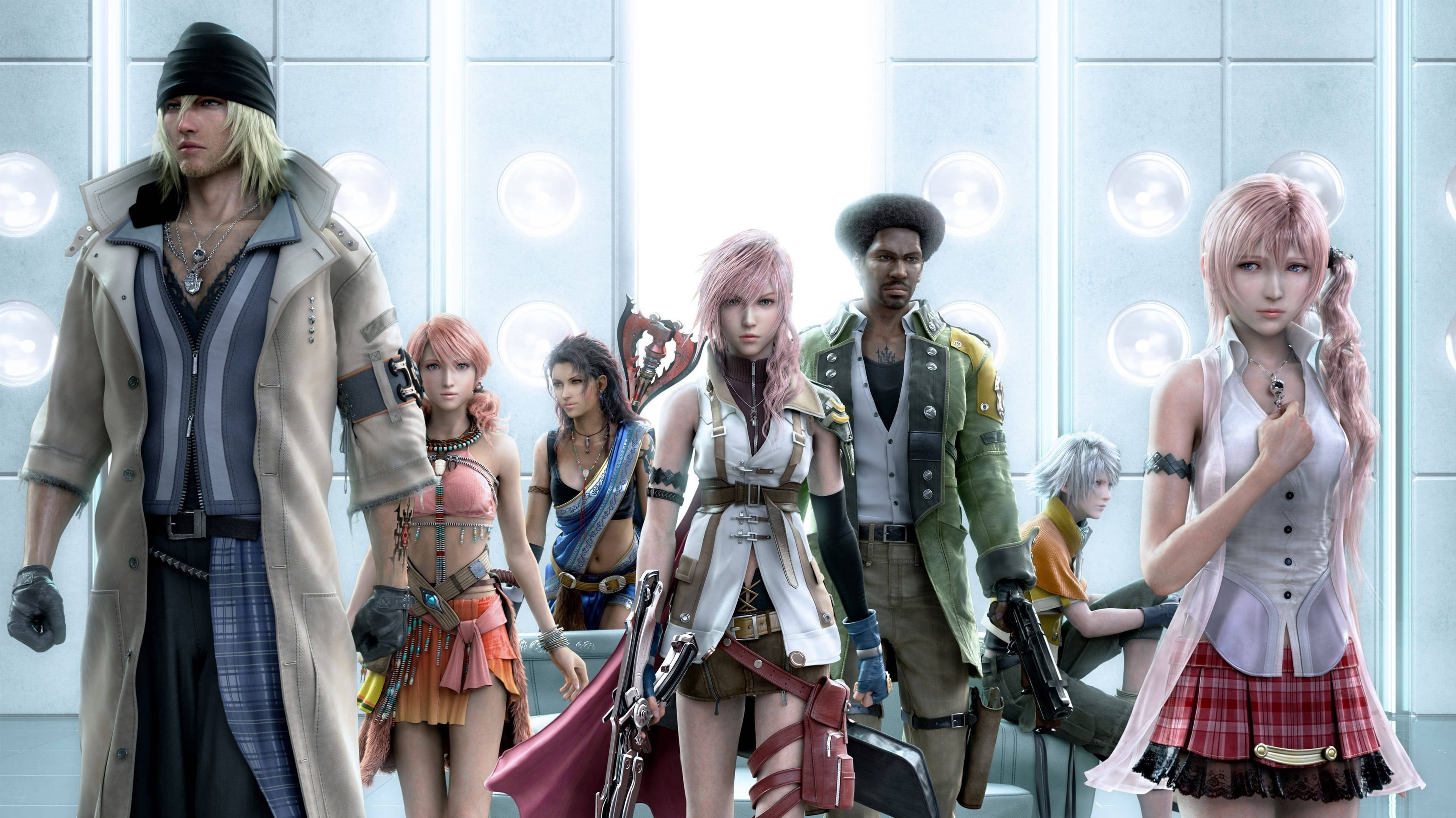 final fantasy xiii 8 characters uhd 4k wallpaper