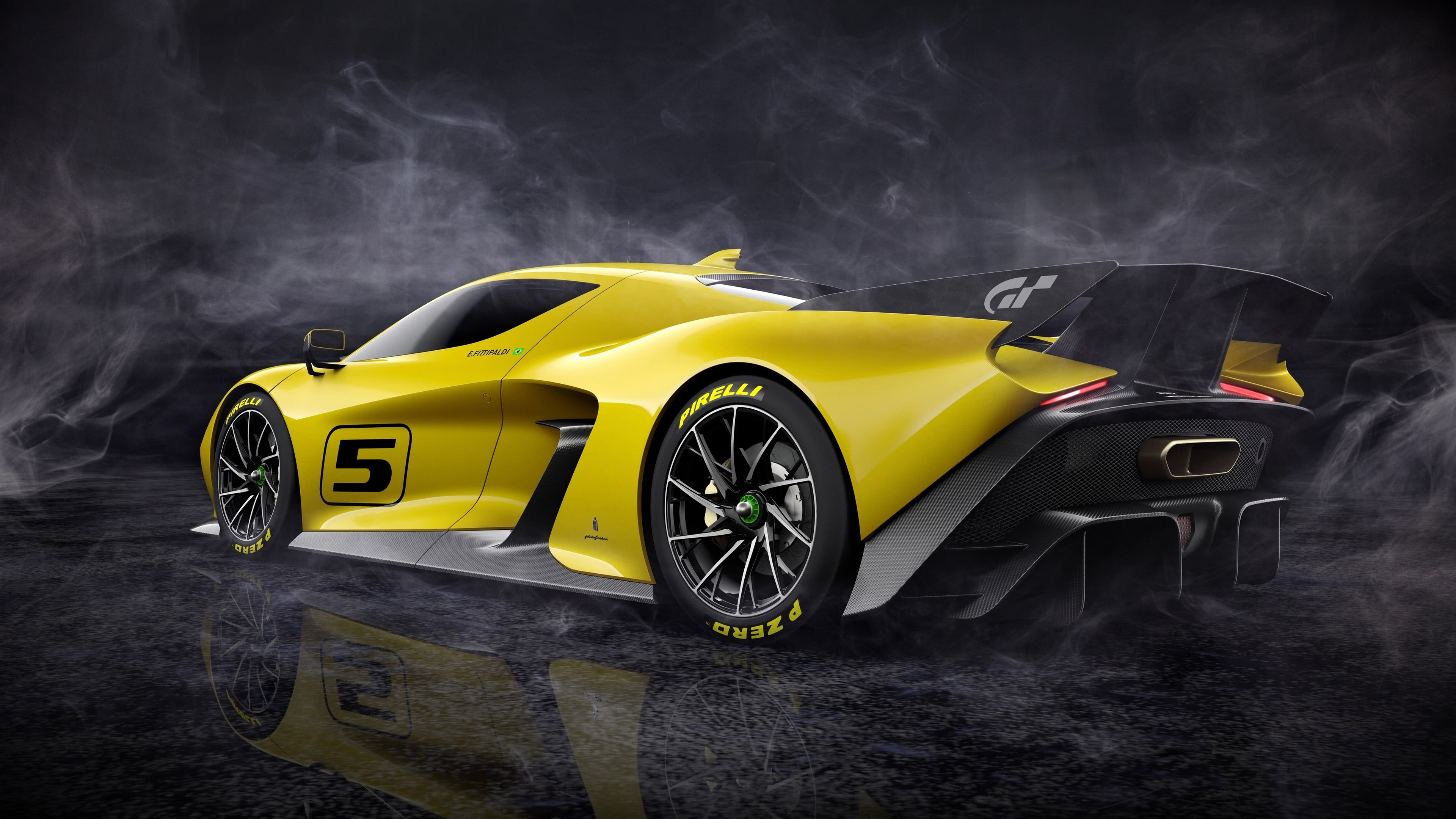 fittipaldi ef7 vision gran turismo rear uhd 4k wallpaper
