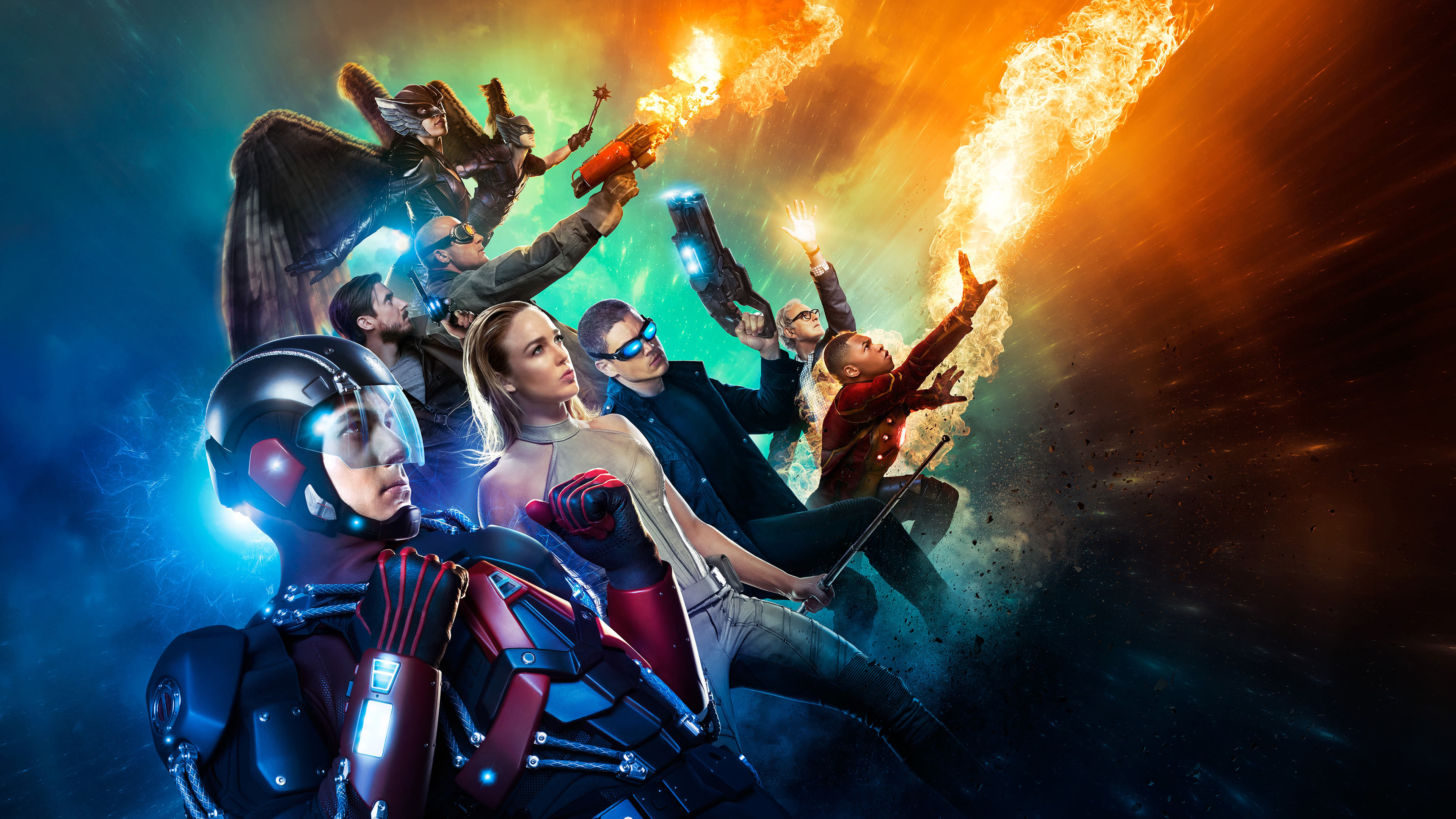 legends of tomorrow superheroes uhd 4k wallpaper