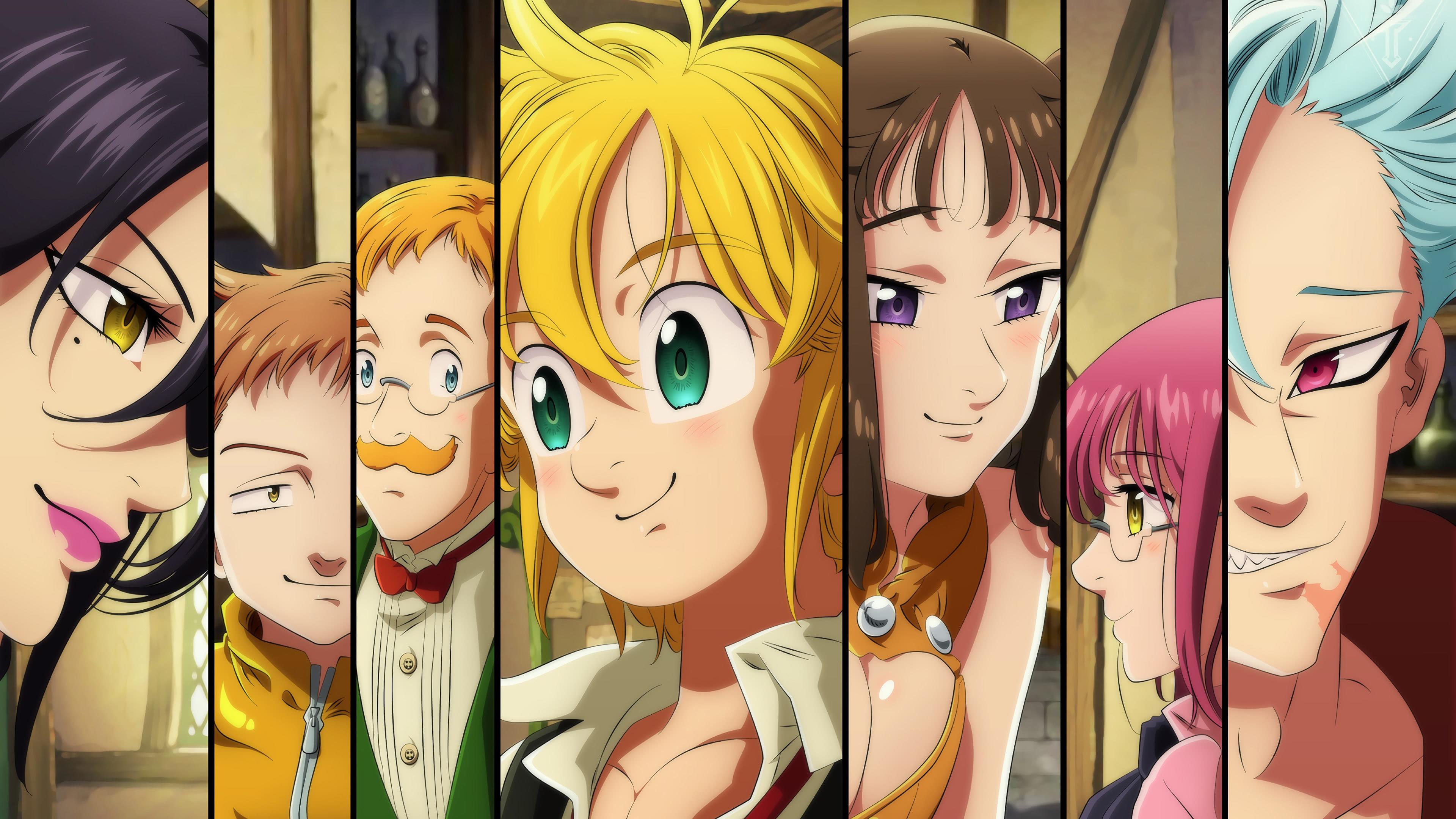 Nanatsu No Taizai Seven Deadly Sins Characters Uhd 4k Wallpaper