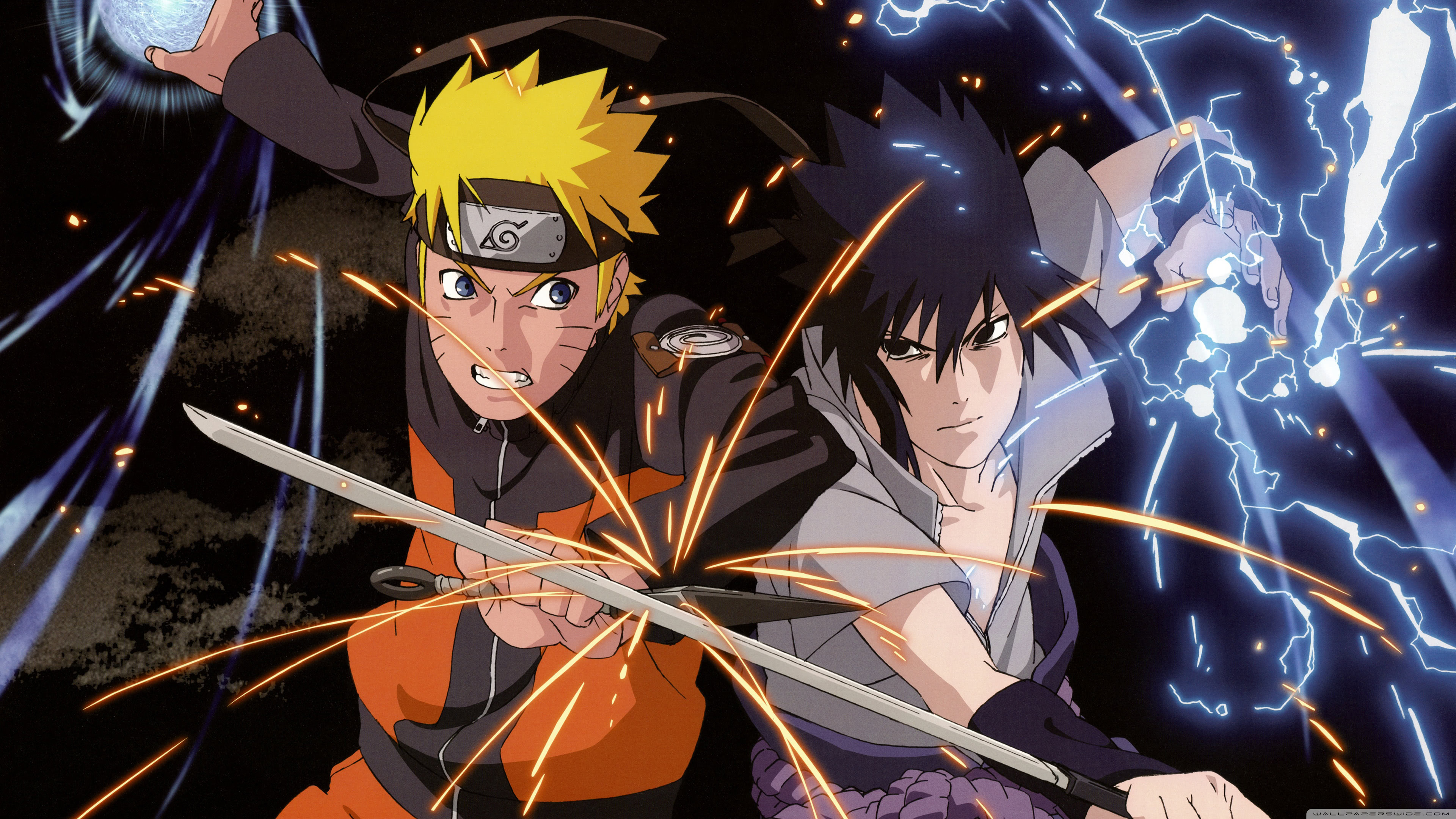 naruto vs sasuke uhd 4k wallpaper