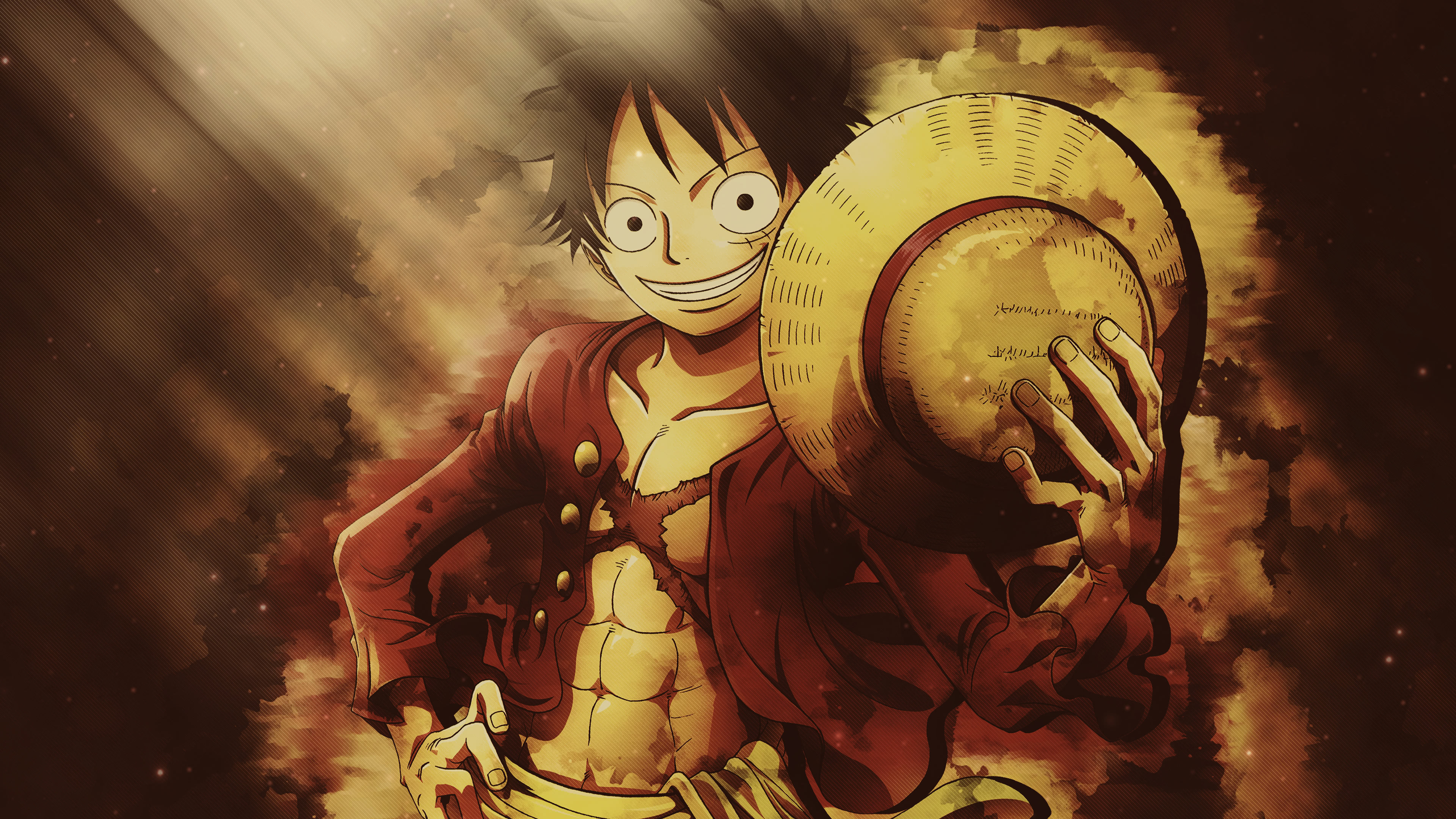 One Piece Monkey D Luffy Straw Hat Portrait Uhd 4k Wallpaper Pixelz