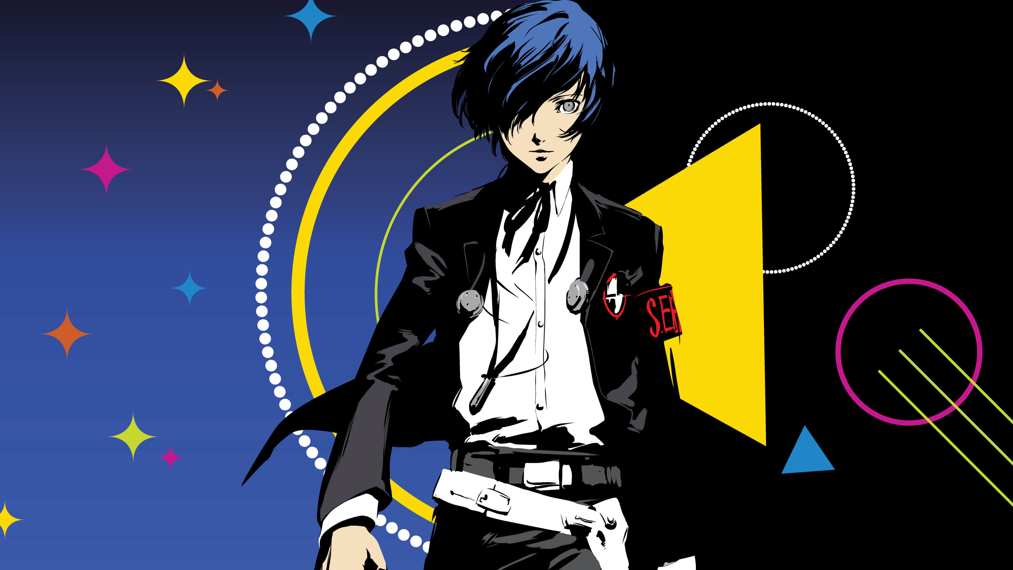 persona 3 potagonist uhd 4k wallpaper