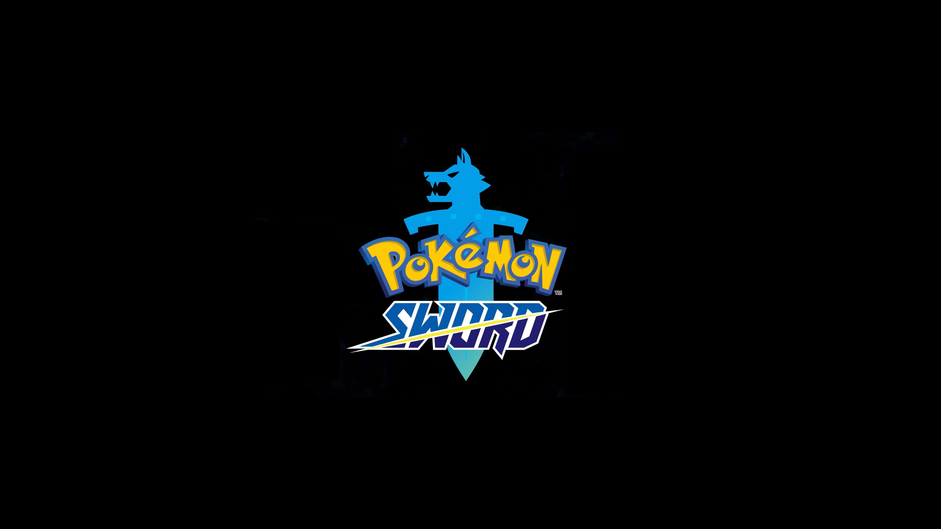 pokemon sword logo uhd 4k wallpaper