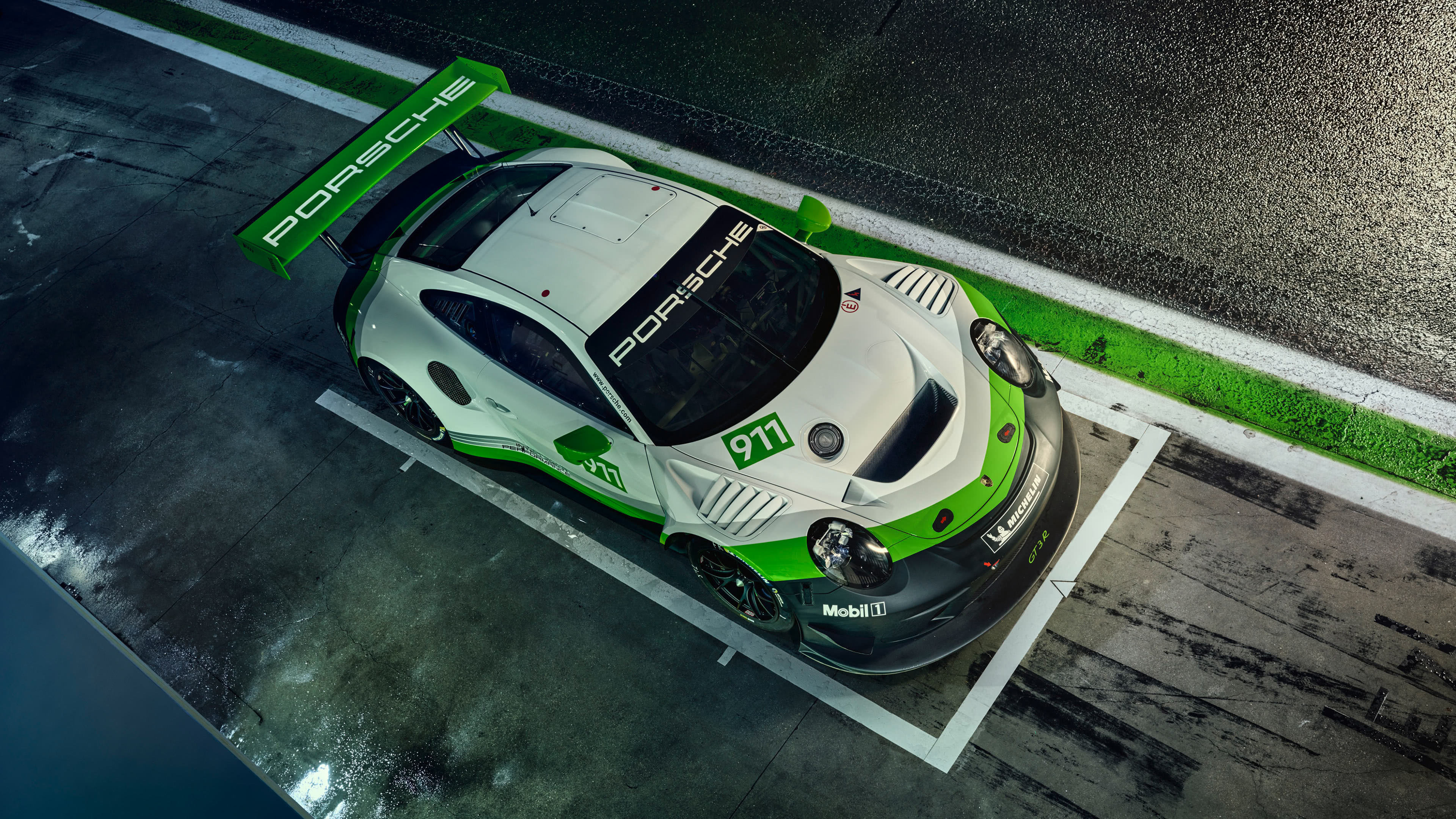 porsche 911 gt3 r top uhd 4k wallpaper