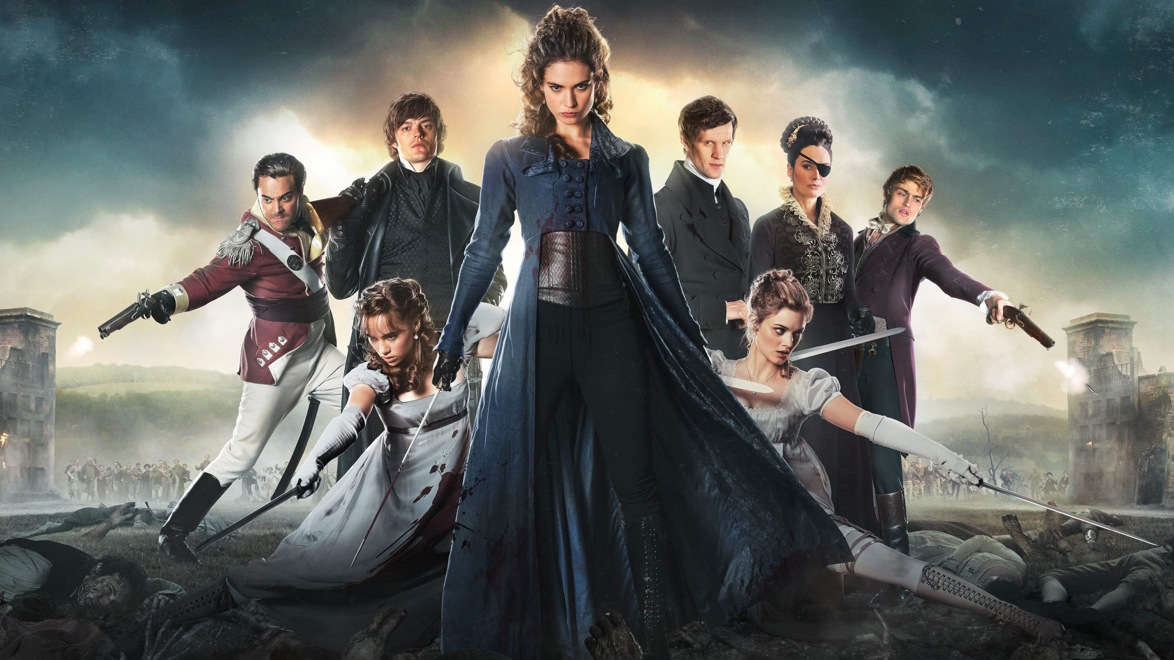 pride and prejudice and zombies characters uhd 4k wallpaper
