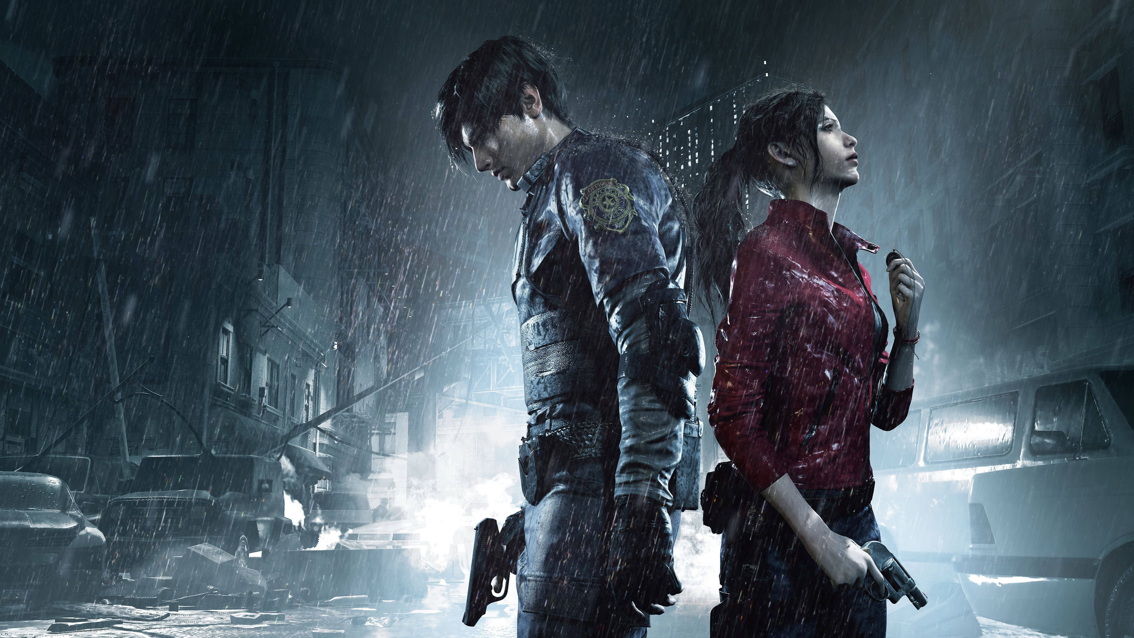 Resident Evil 2 Remake Leon And Claire Uhd 4k Wallpaper Pixelz