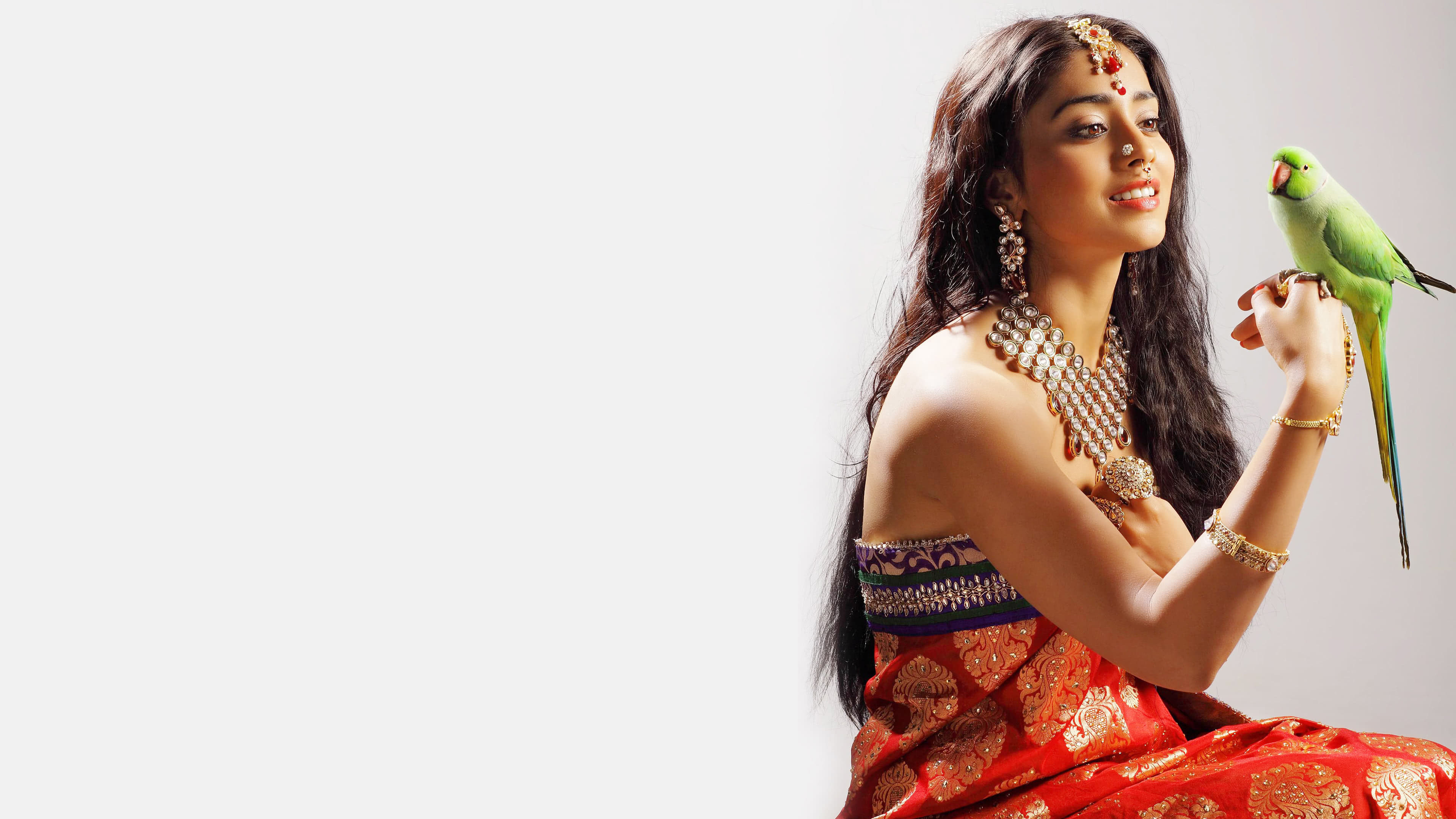 shriya saran traditional saree photoshoot uhd 4k wallpaper
