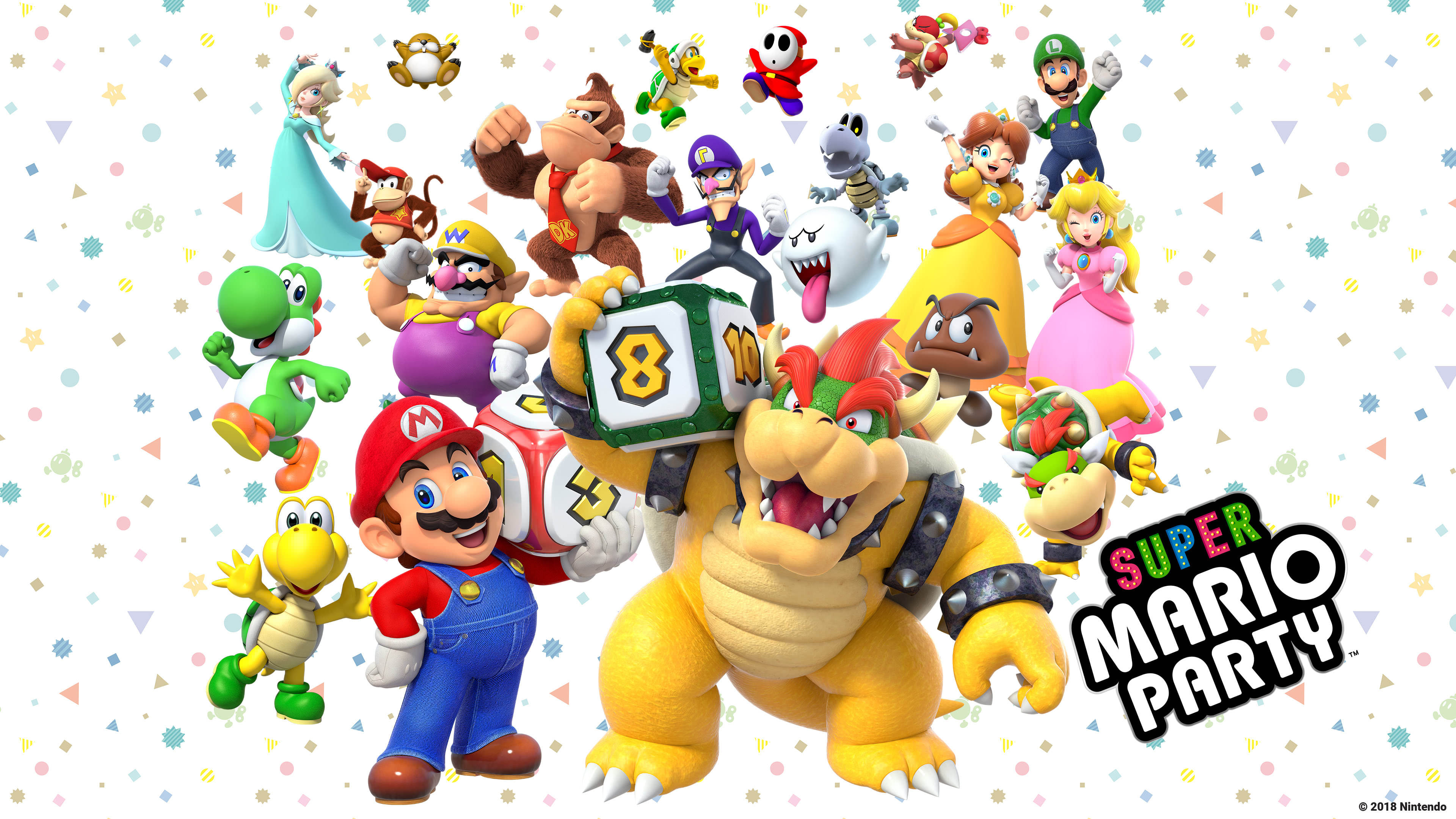 Super Mario Party Characters UHD 4K Wallpaper | Pixelz
