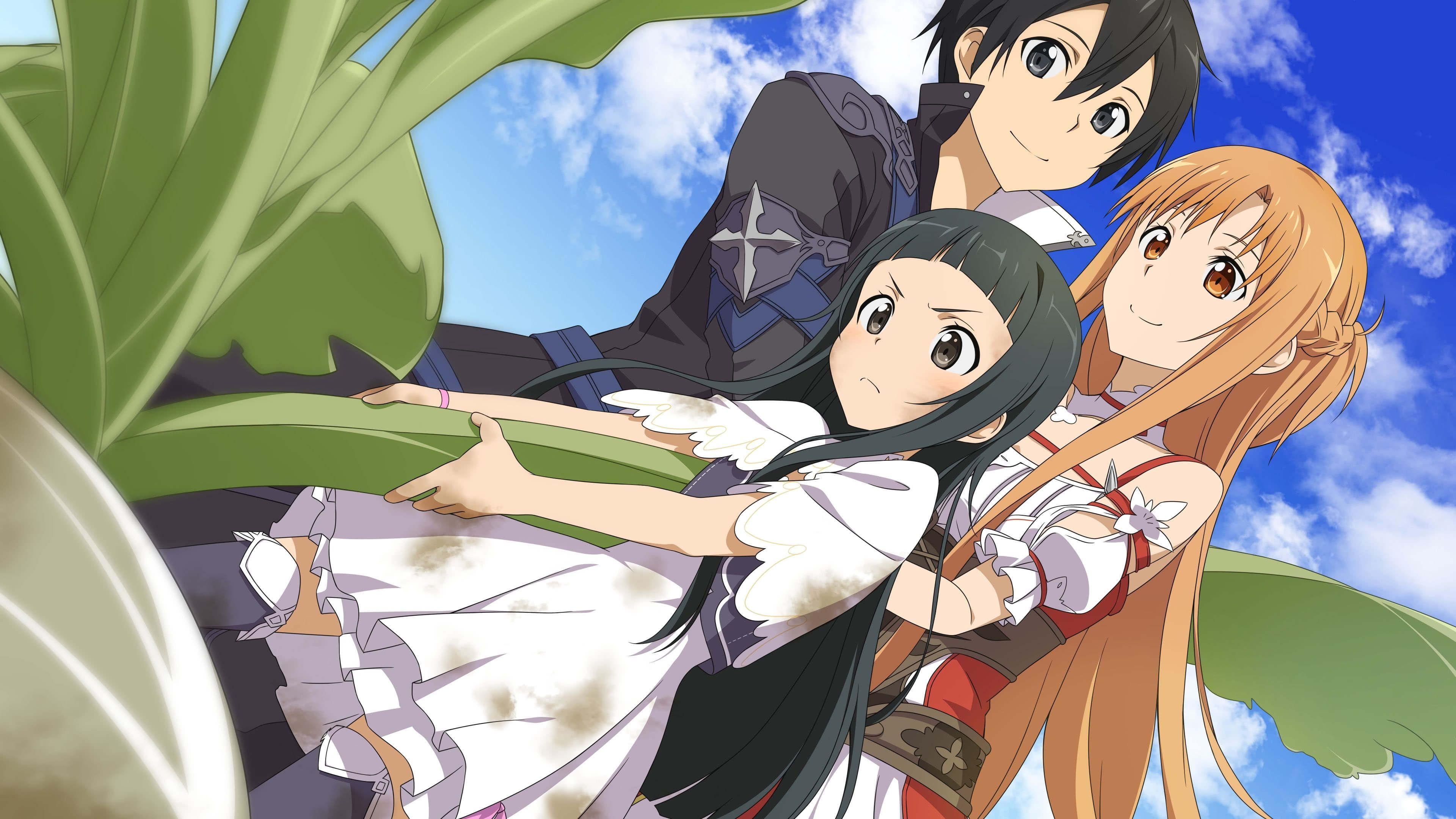 Sword Art Online Hollow Realization Asuna Kirito And Yui Uhd