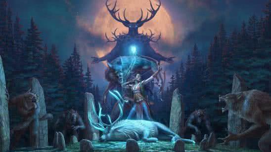 the elder scrolls online wolfhunter uhd 4k wallpaper