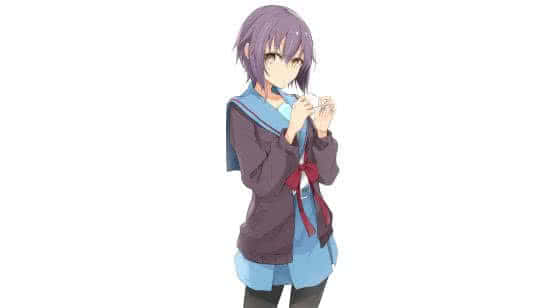 the melancholy of haruhi suzumiya yuki nagato uhd 4k wallpaper