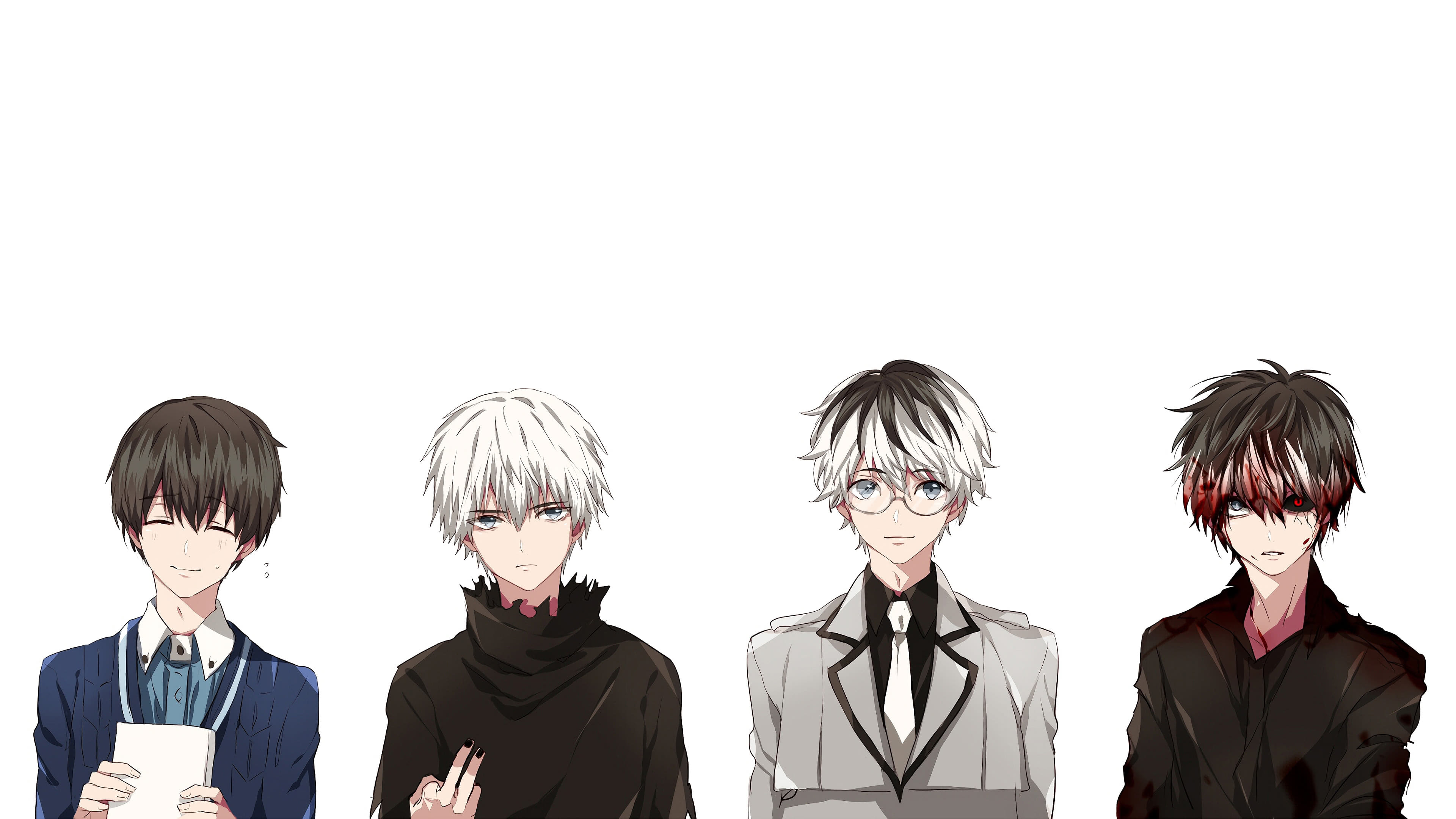 Tokyo Ghoul Ken Kaneki Personalities UHD 4K Wallpaper | Pixelz
