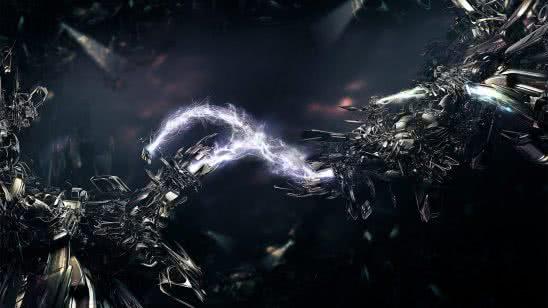 abstract lightning beams wqhd 1440p wallpaper